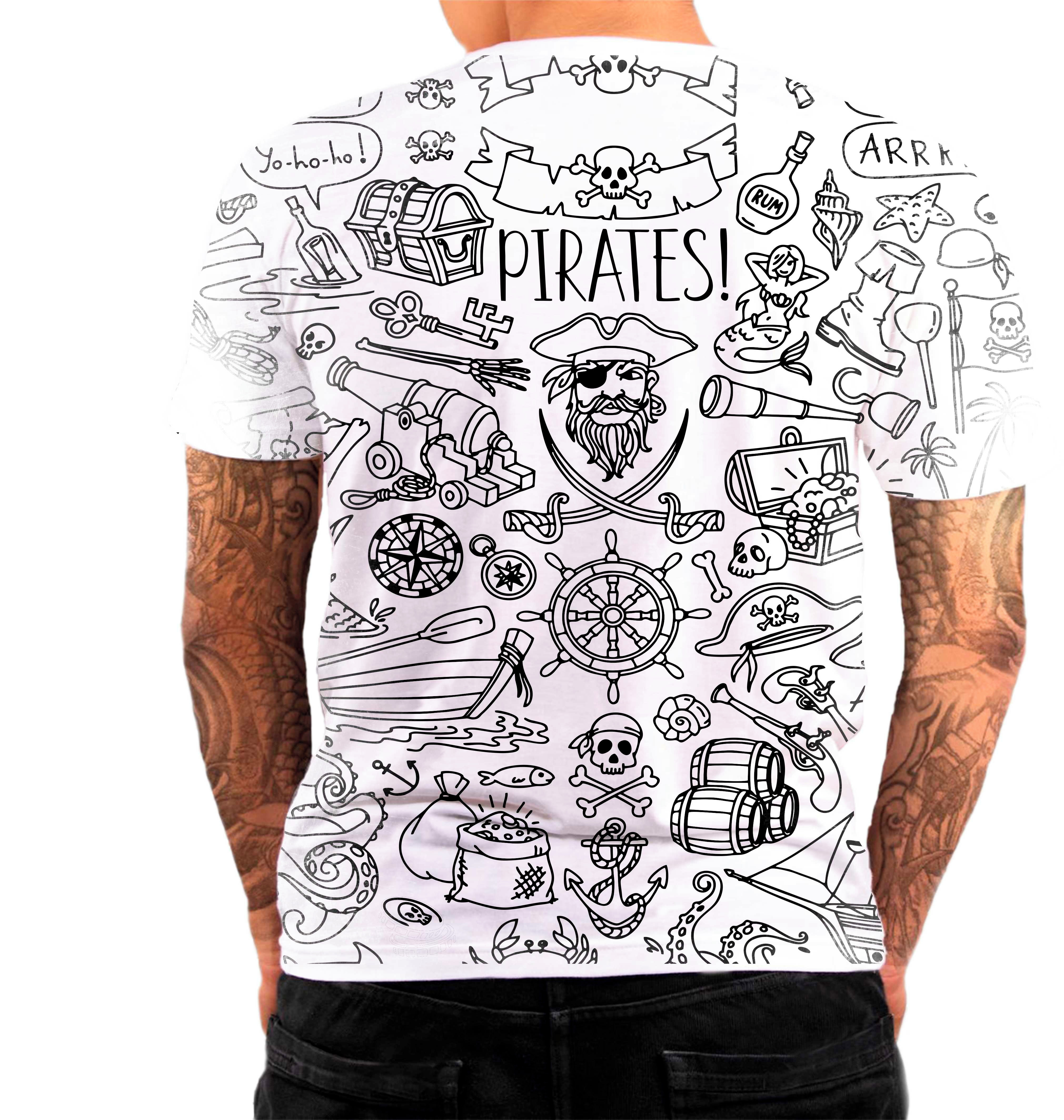 Camisa Camiseta Personalizada Caveira Pirata Mexicana 01 no Elo7 ... 2b94acd37d6