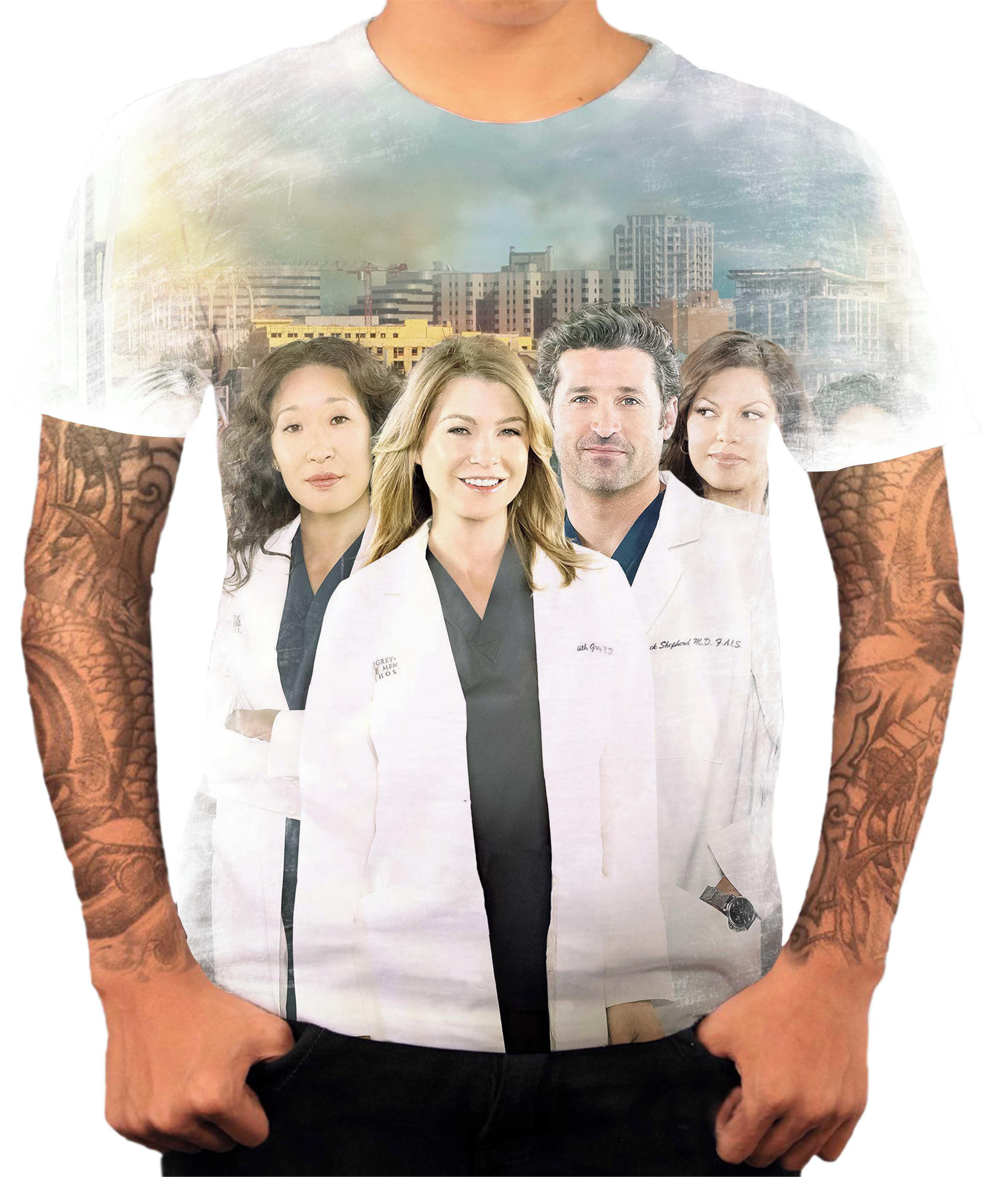 Camisa Camiseta Personalizada Série Grey\'s Anatomy 05 no Elo7 ...