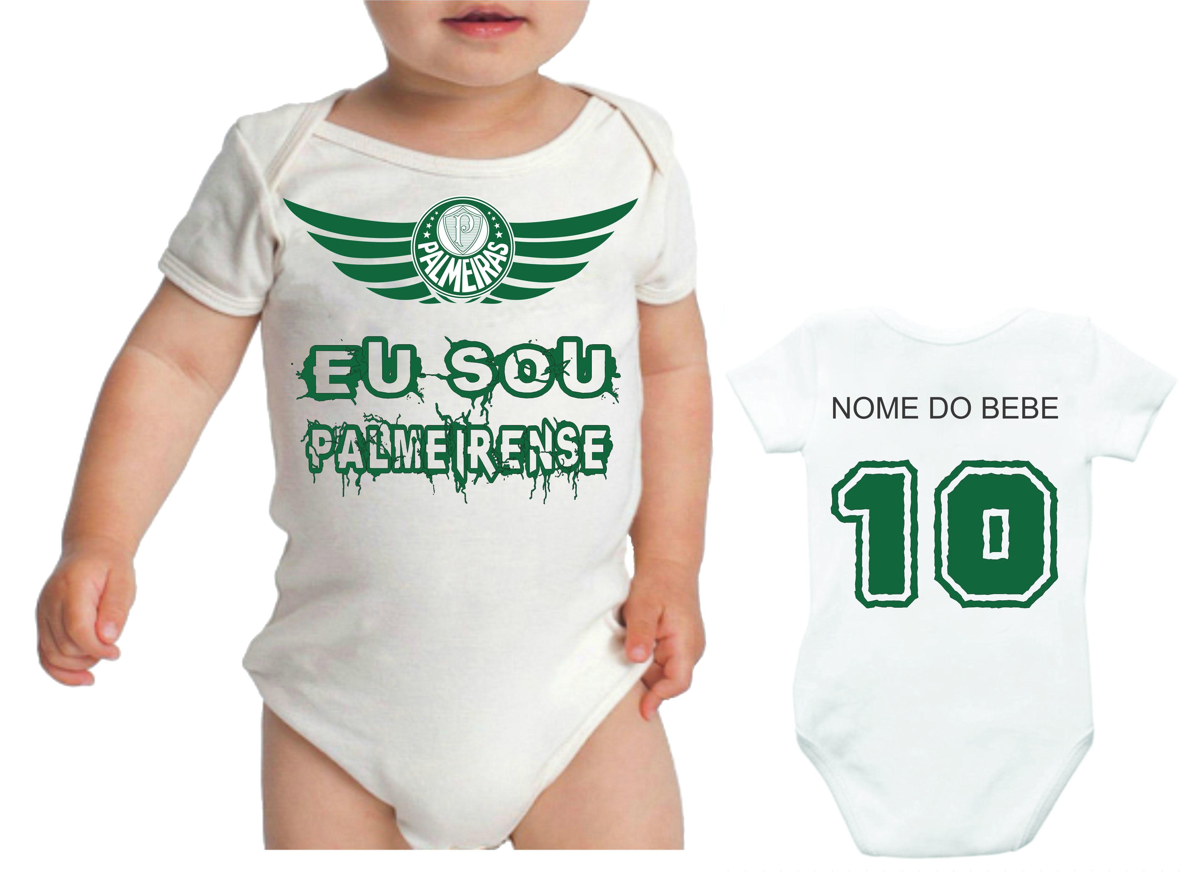 Camiseta infantil ou Body Bebê Futebol palmeira no Elo7  6afe949fc4f4e