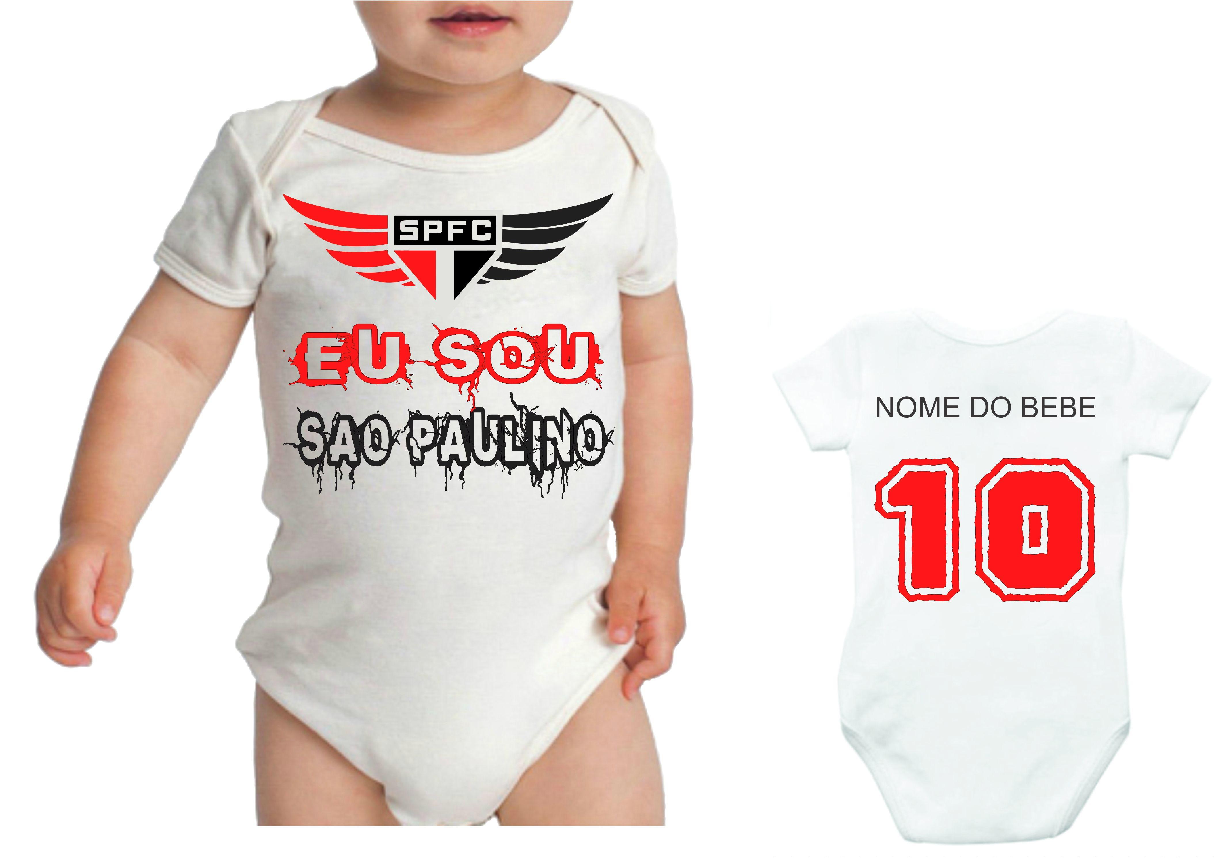 Camiseta Personalizada Sao Paulo Infantil  e7124b258b724