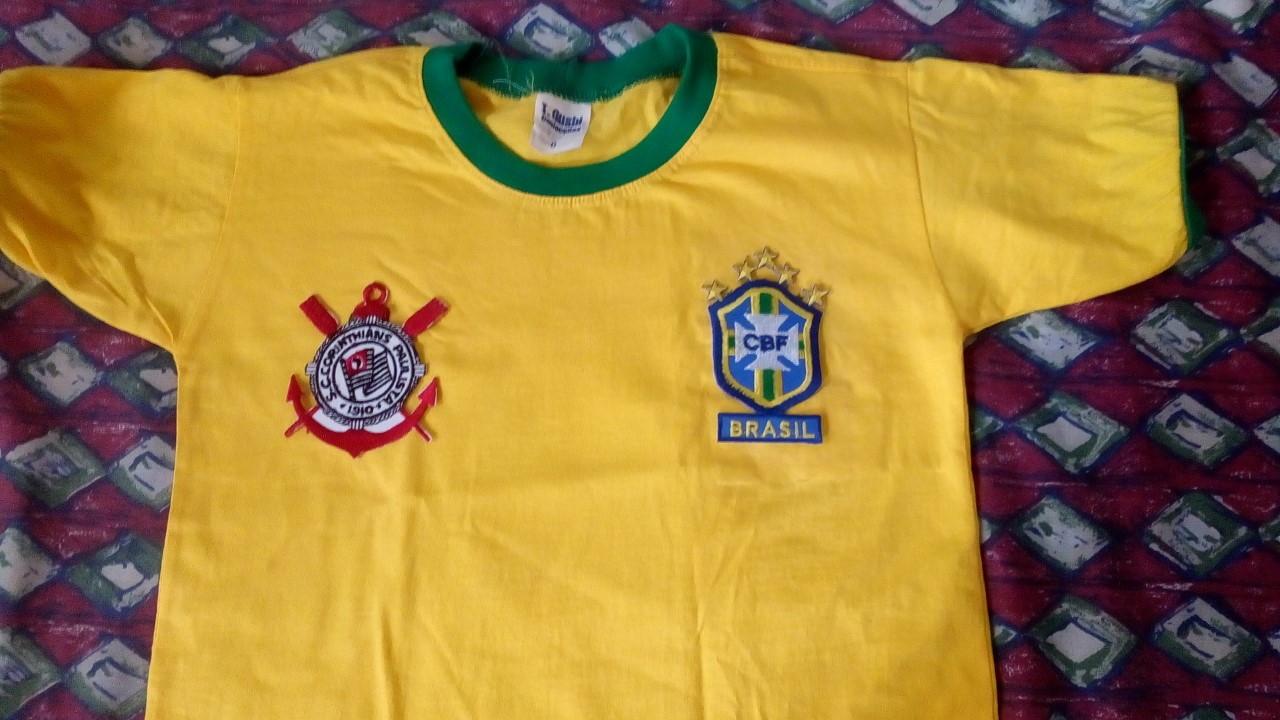 03ebf9d62f Camiseta Bordada Brasil