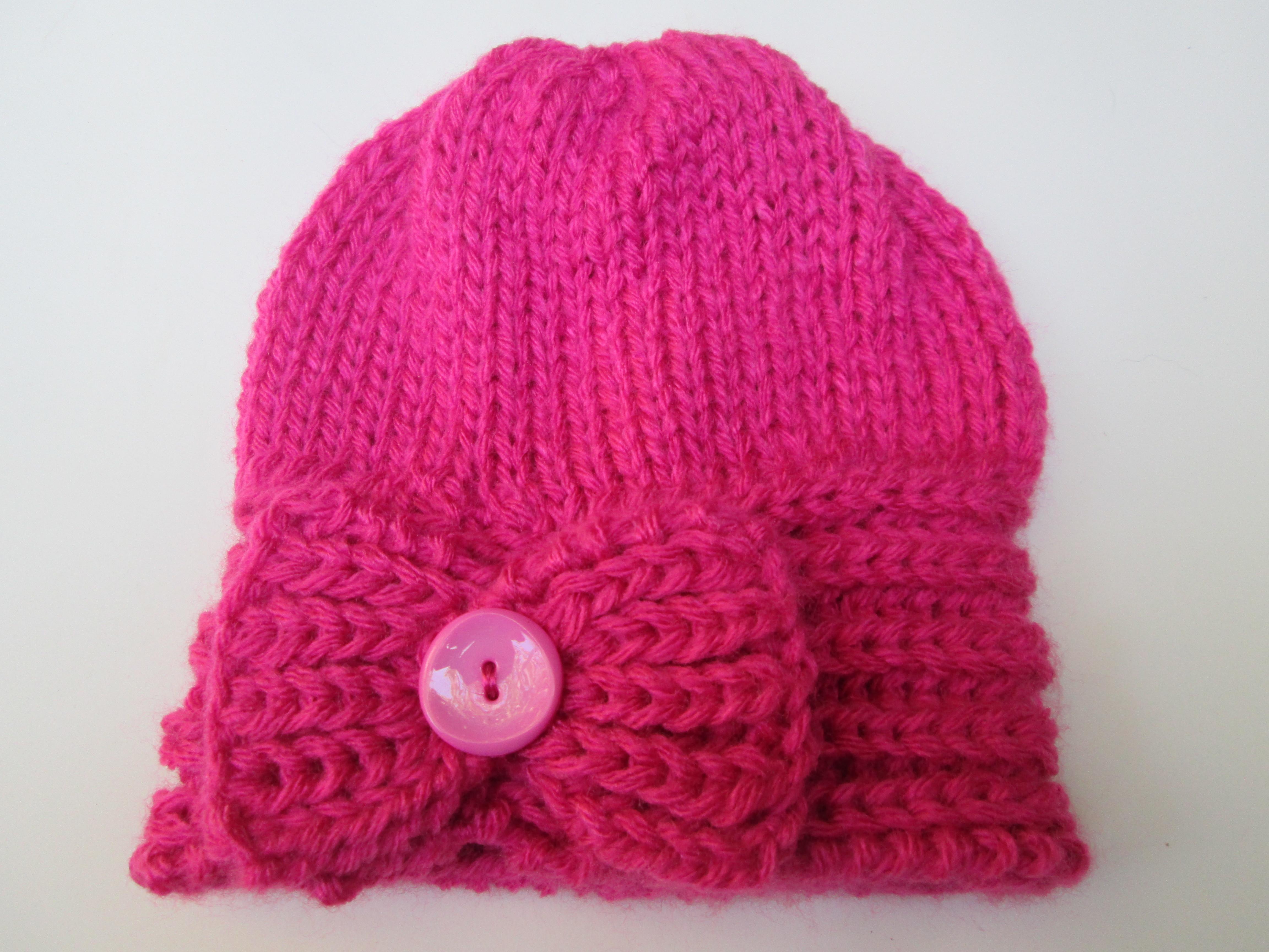 1e4612e20bf1f Gorro em Trico Infantil Laco Pink