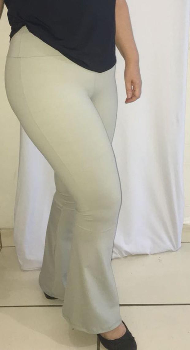 Calca Bandagem Plus Size Flare  21a56ce392862