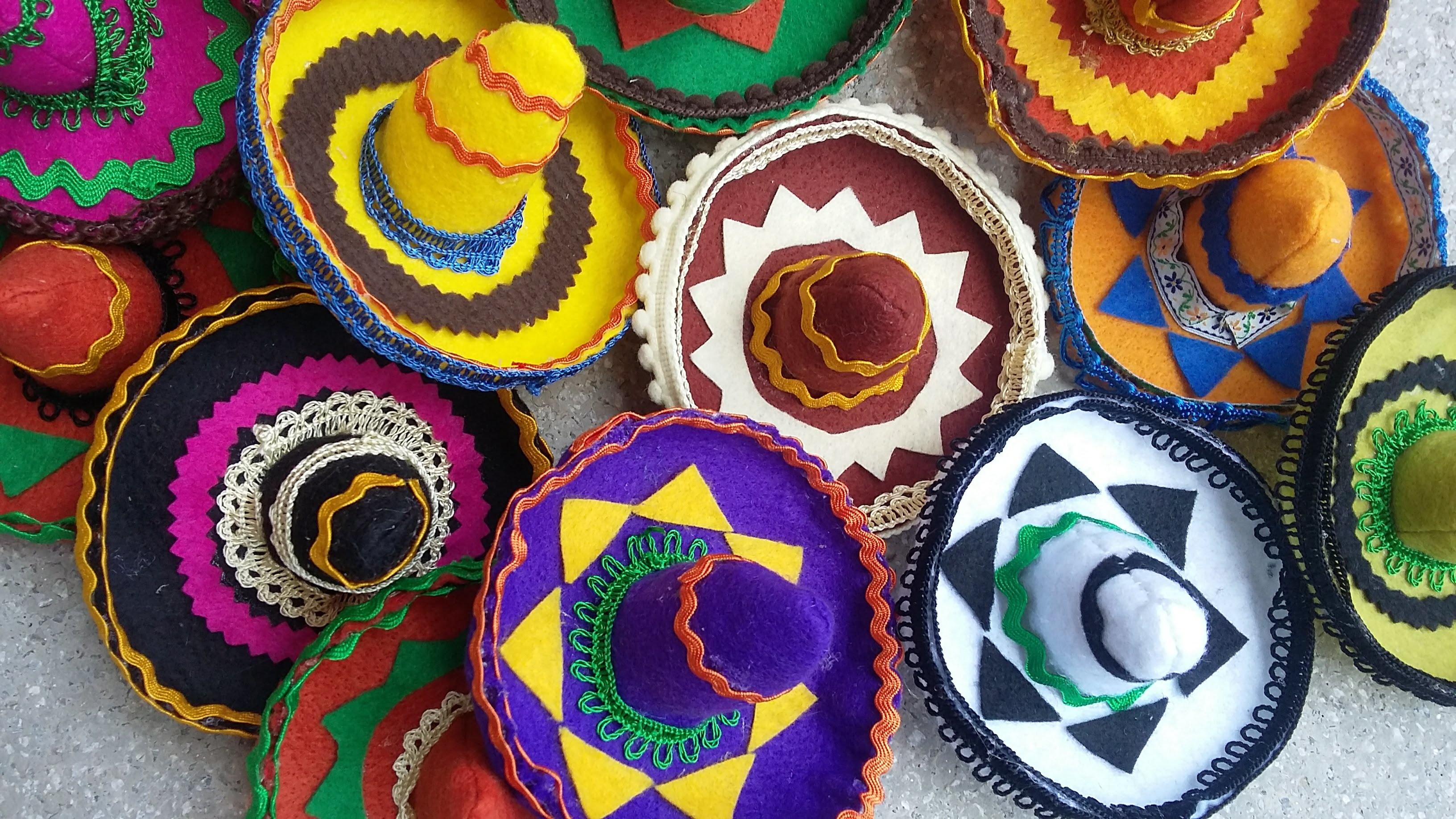 Chapéu Mexicano Colorido  7c3995aed75
