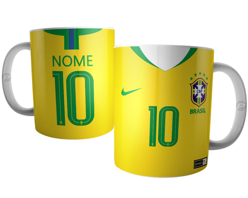 8c572fc8b5 Caneca Camisa Selecao Brasileira Camiseta Brasil Copa 2018