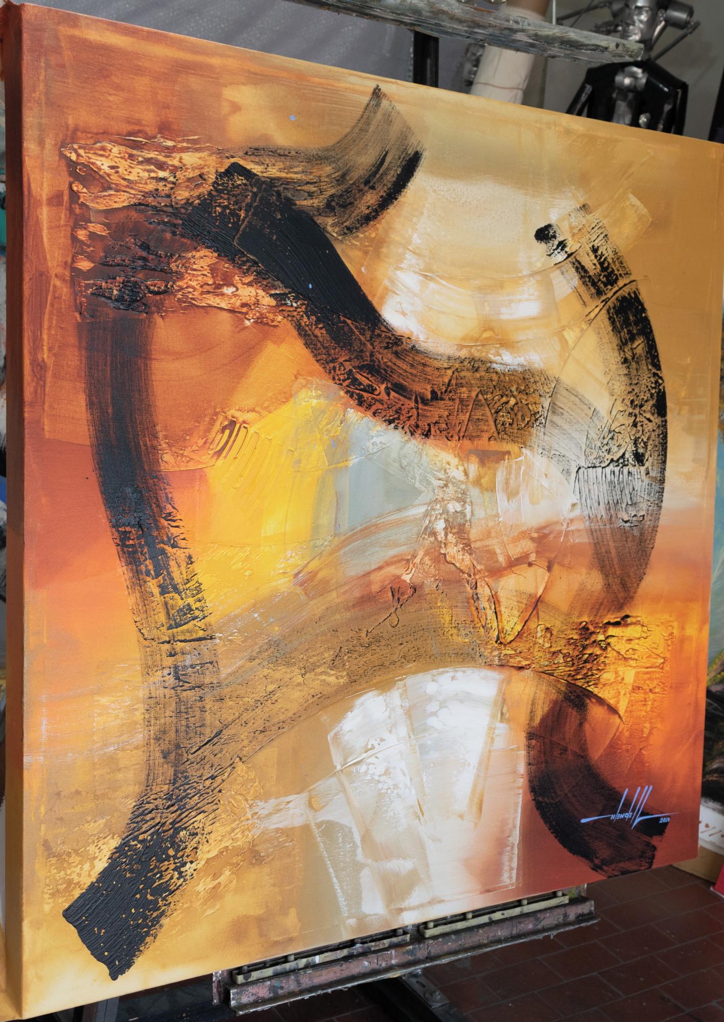 729db4da2230a Pintura Abstrata Em Tela 100 cm X 100 cm - kanui 1 no Elo7