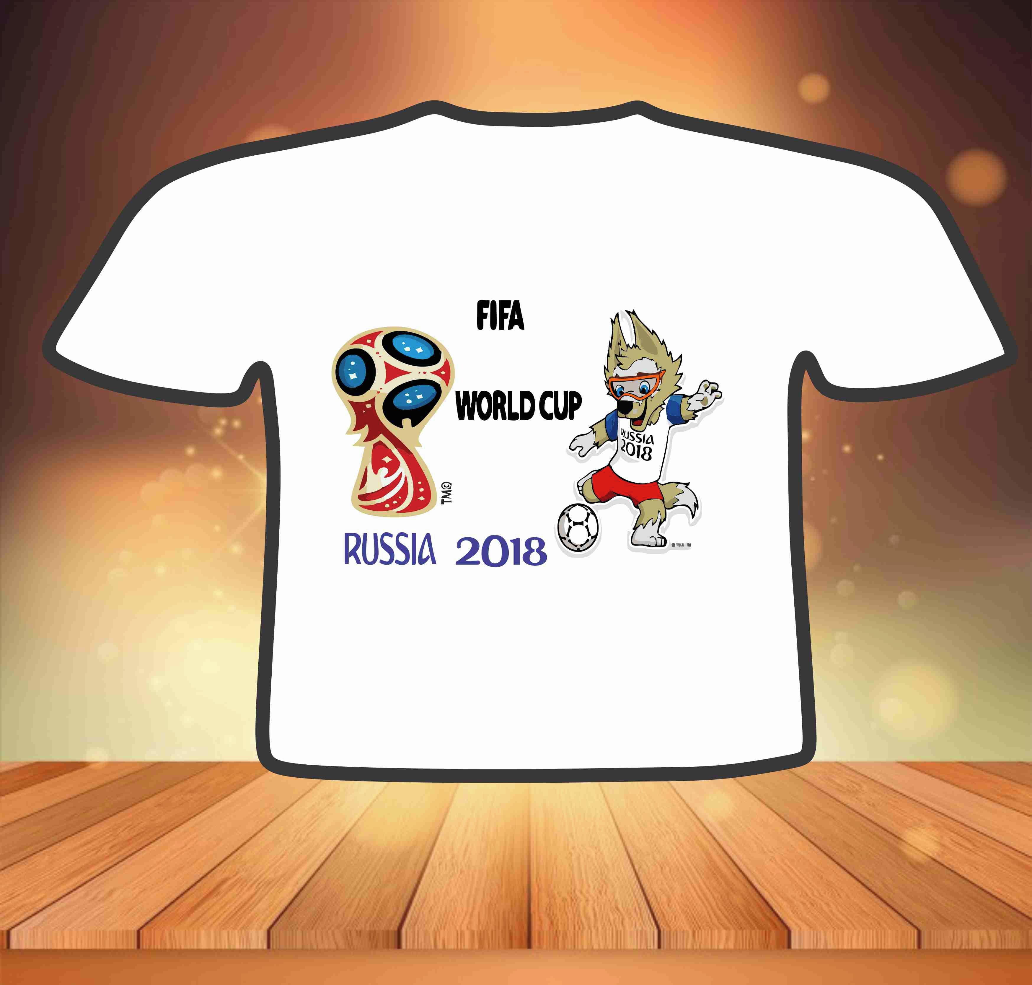 Camisa Criança Copa do Mundo  6857f8a0b8042