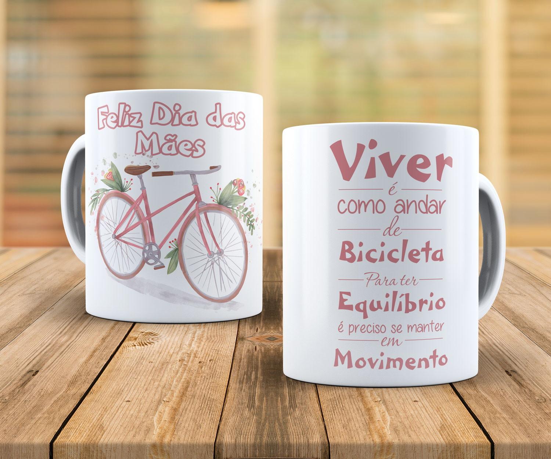 Caneca Feliz Dia das Mães Bicicleta no Elo7 | JD Arte ...