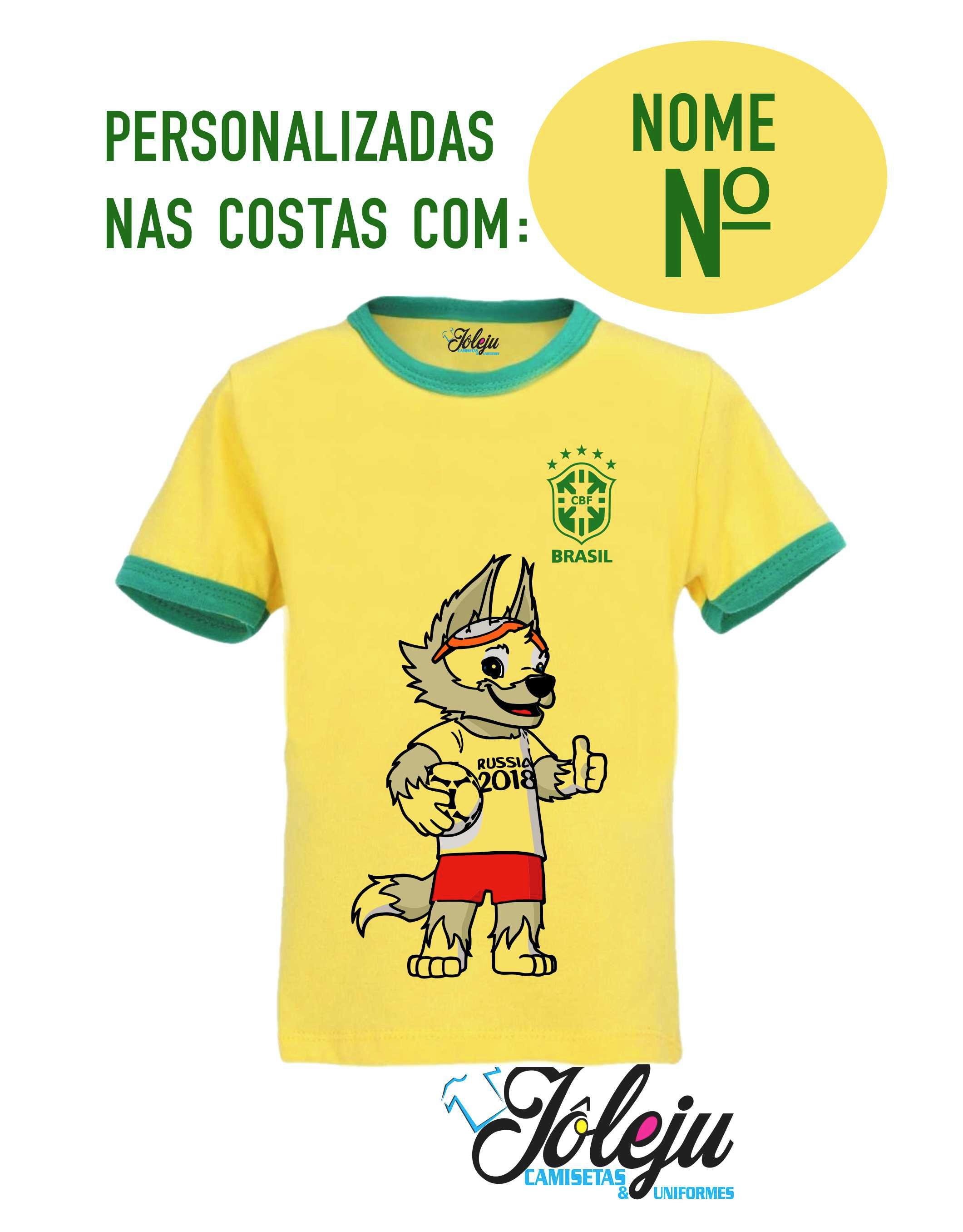 Camiseta Brasil Copa do Mundo no Elo7  cad758683d052