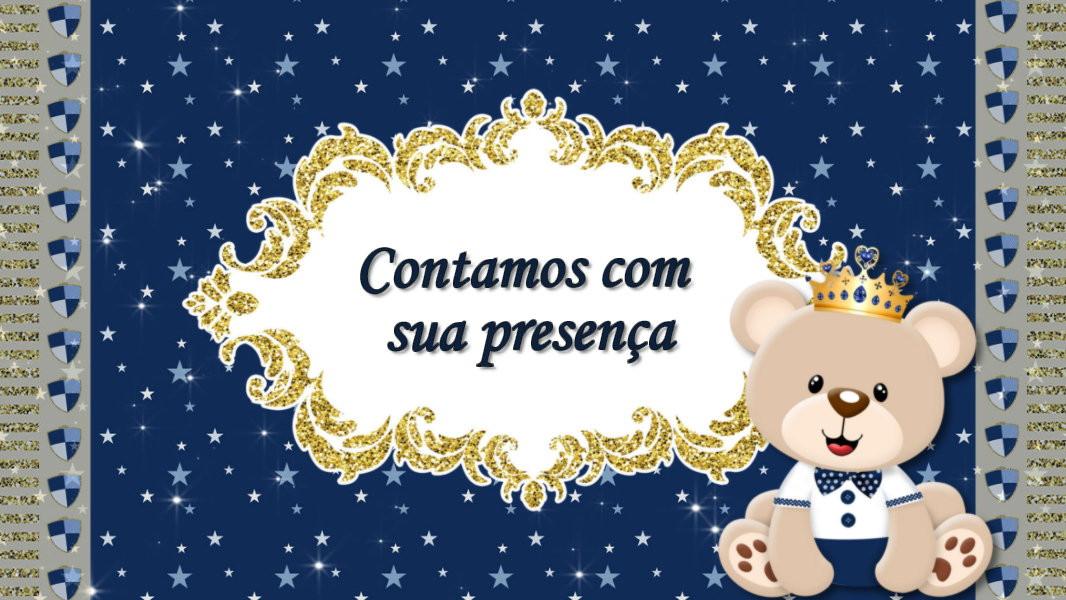 Convite Animado Chá De Bebê Ursinho Príncipe No Elo7 Drika Artes E