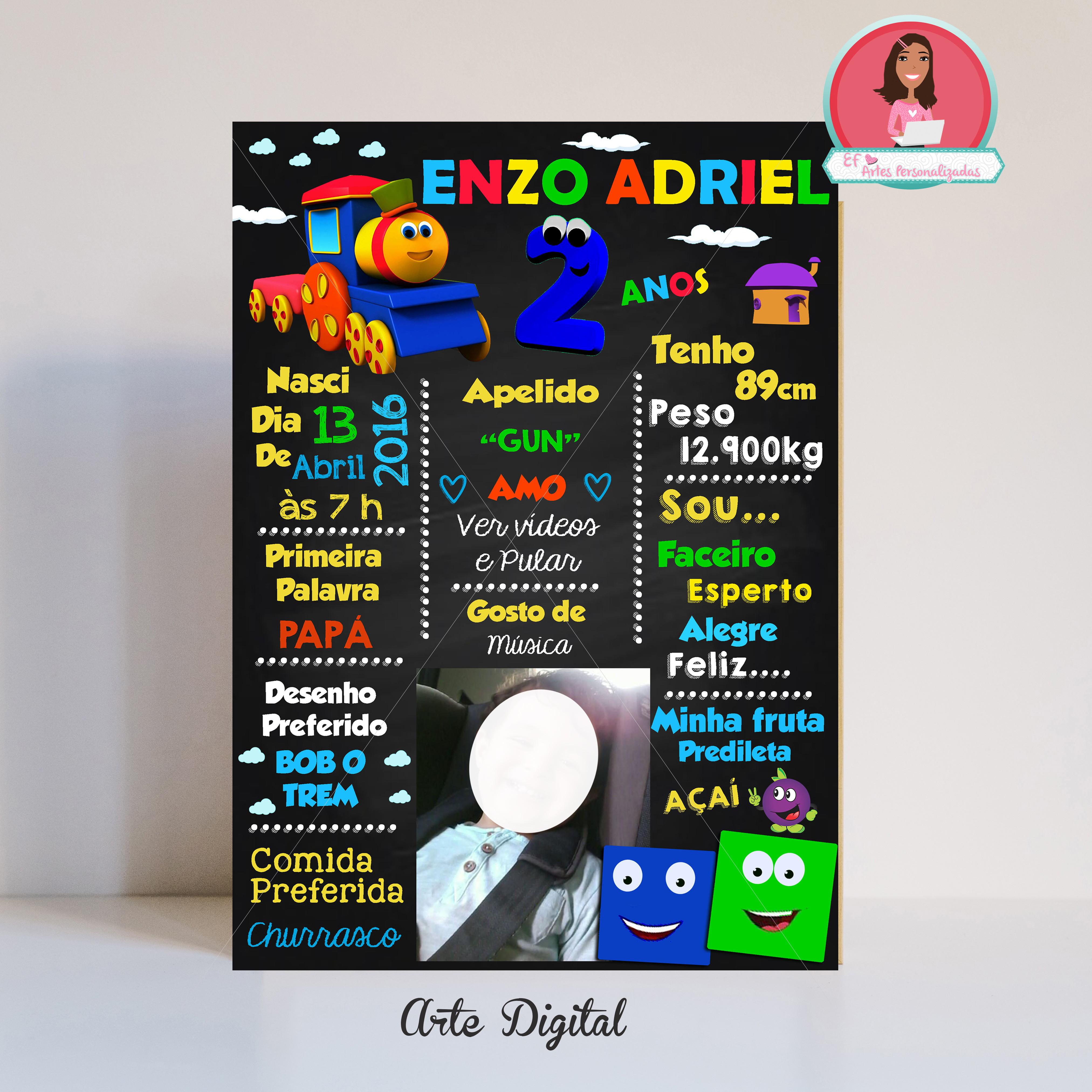 Chalkbaord Bob O Trem Para Imprimir No Elo7 Ef Artes