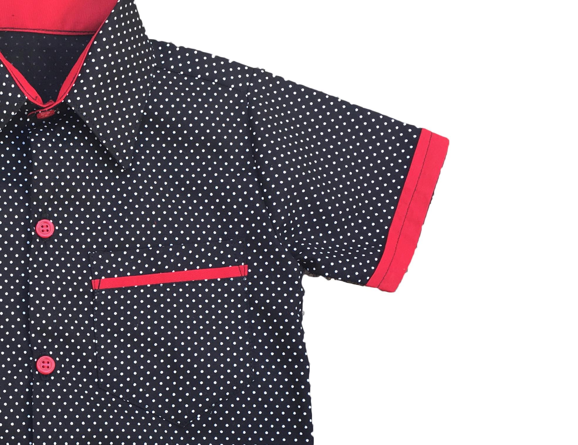 d68c0681e032f Camisa Social Infantil com Bolso no Elo7   Mio Bambino Roupas (C309FD)