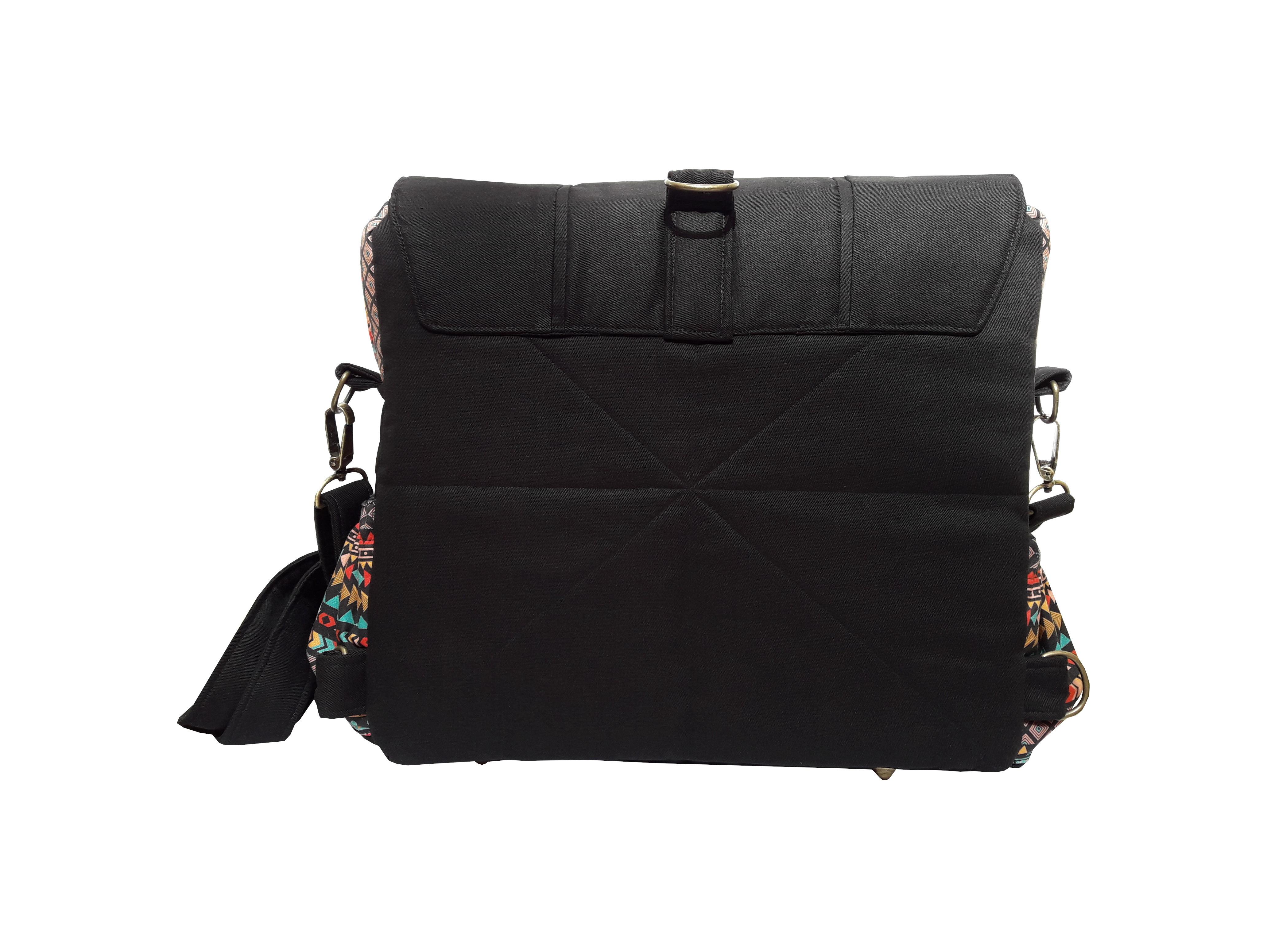 1d5fbe4e1 Bolsa Carteiro Conversível para Mochila Étnica no Elo7 | Brigitte Bags  (C3102B)