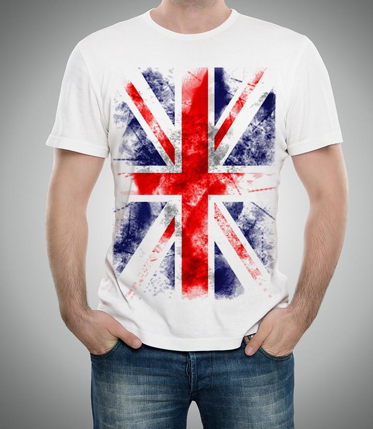 Camiseta Bandeira Inglaterra Masculino Feminino Infantil  eddafecbc58b5