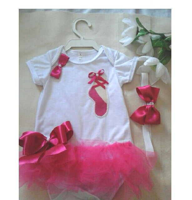 Kit Body Personalizado Sapatilha Bailarina Tiara  60084811989eb