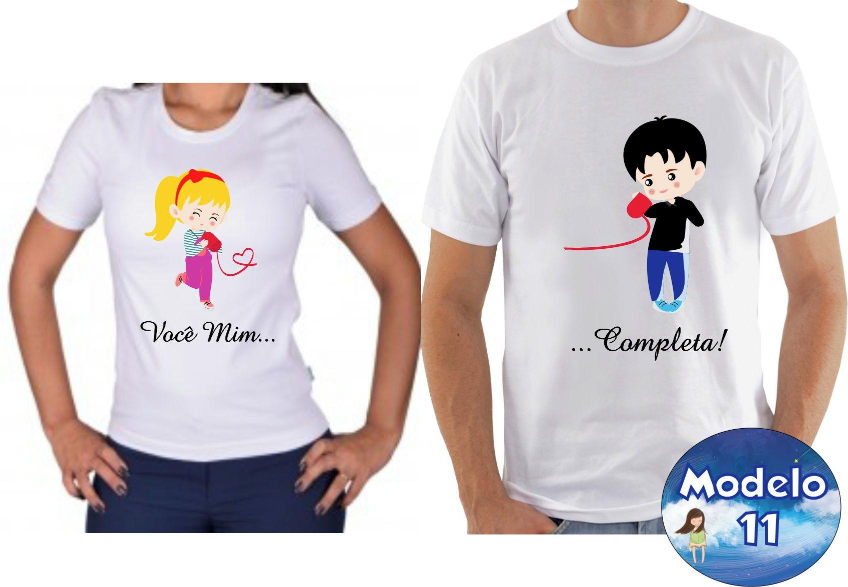 da0bf12c5bd19 Camiseta Personalizada para Casal | Elo7