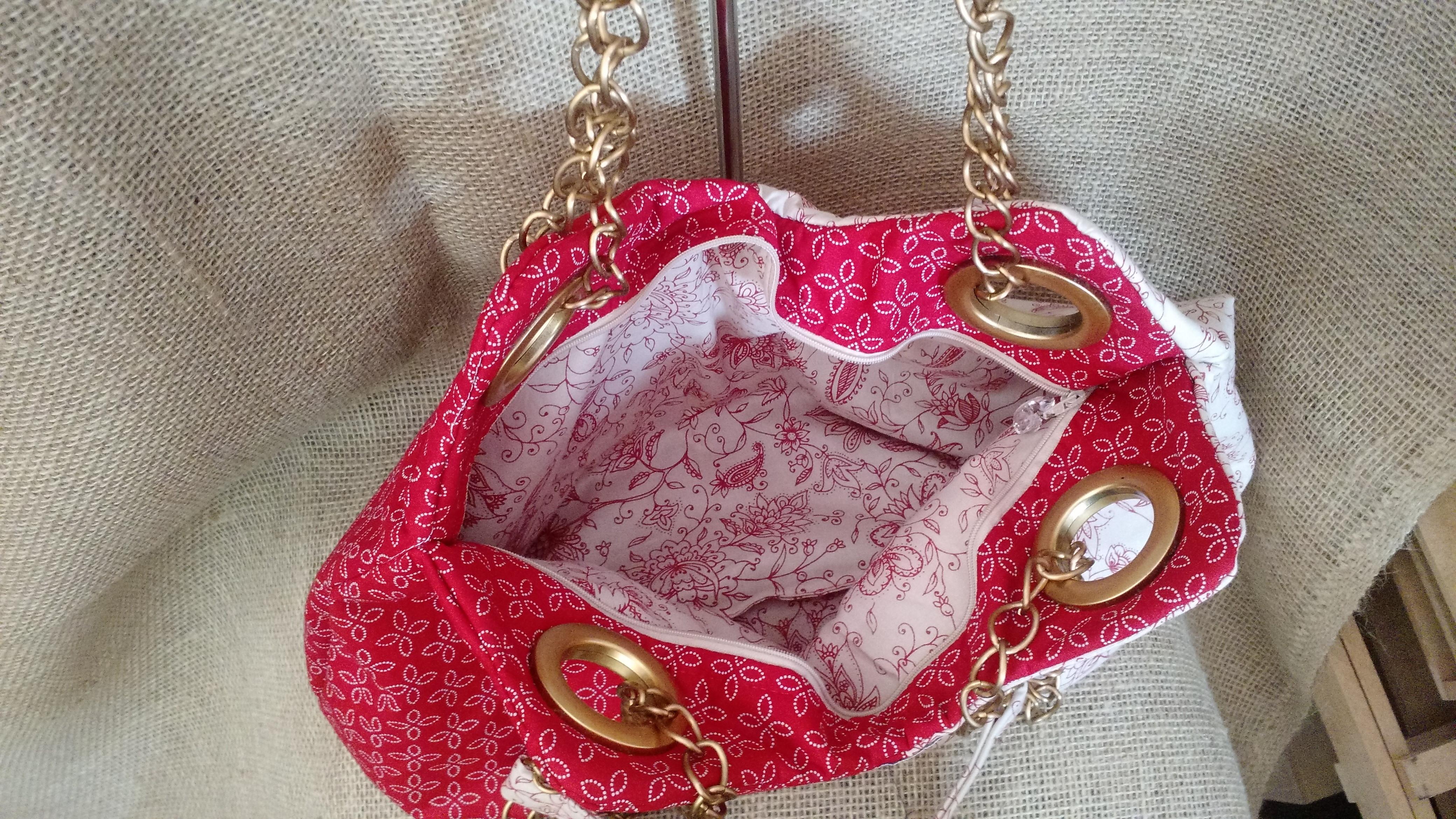 7d2282741 Bolsa em tecido 100% algodão 2 cores alça em corrente00 no Elo7 | Mundo  Artesanato TP (C3DEA8)