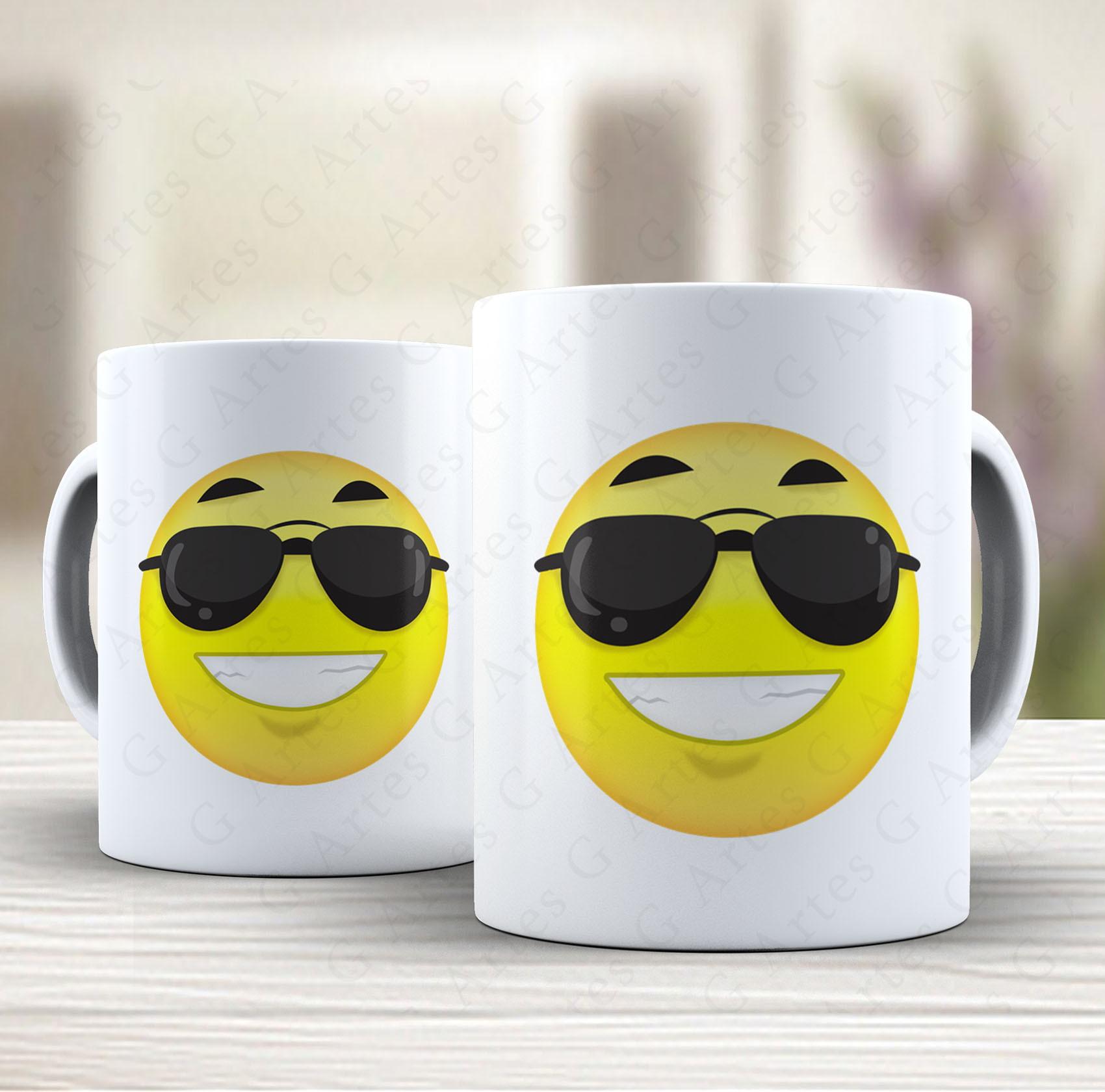 Chaveiro Emoji Oculos de Sol   Elo7 762383341d