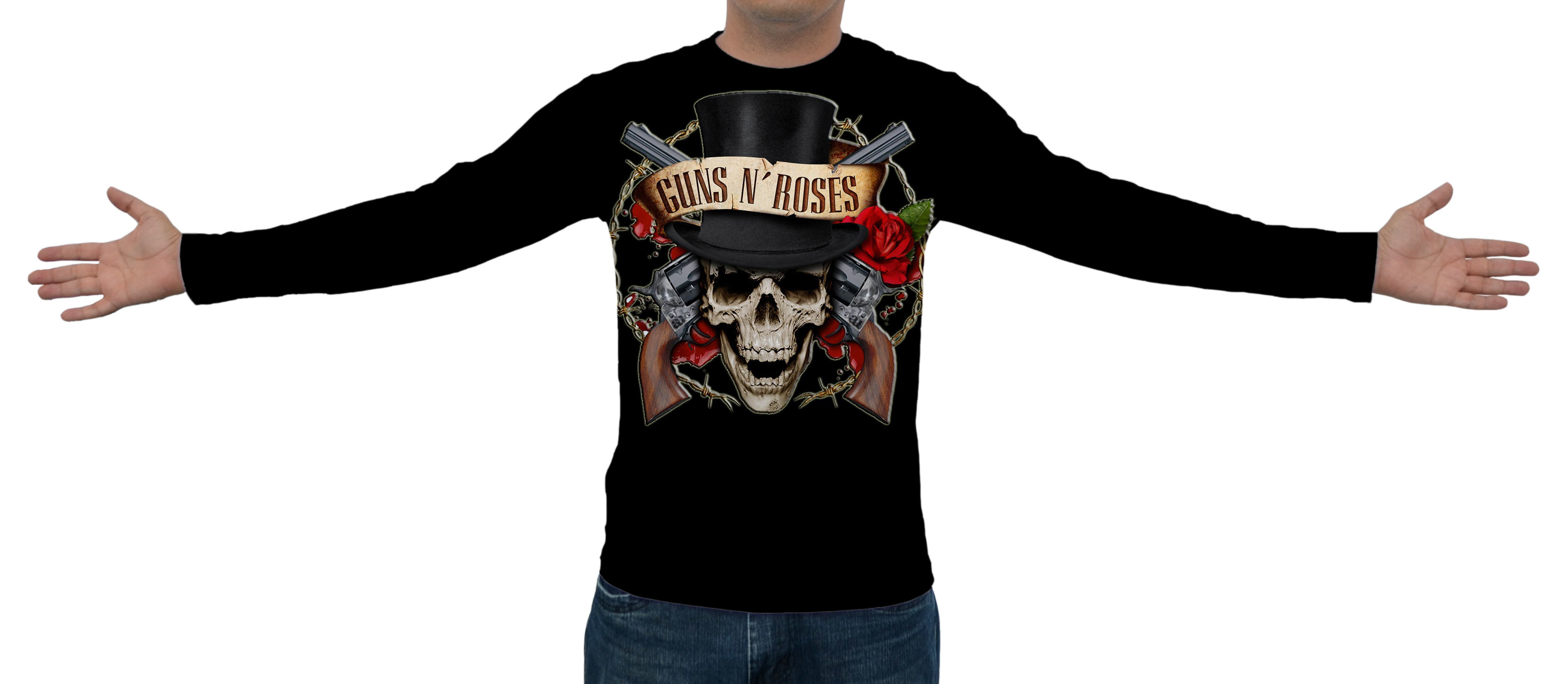 Camiseta Raglan Manga Longa Guns N Roses  c2364a9705e33