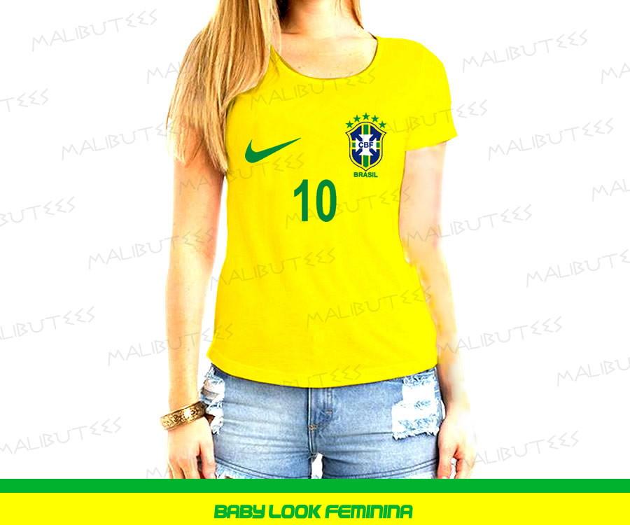 da786984c0 Camiseta Adulta Selecao Brasileira Brasil Neymar