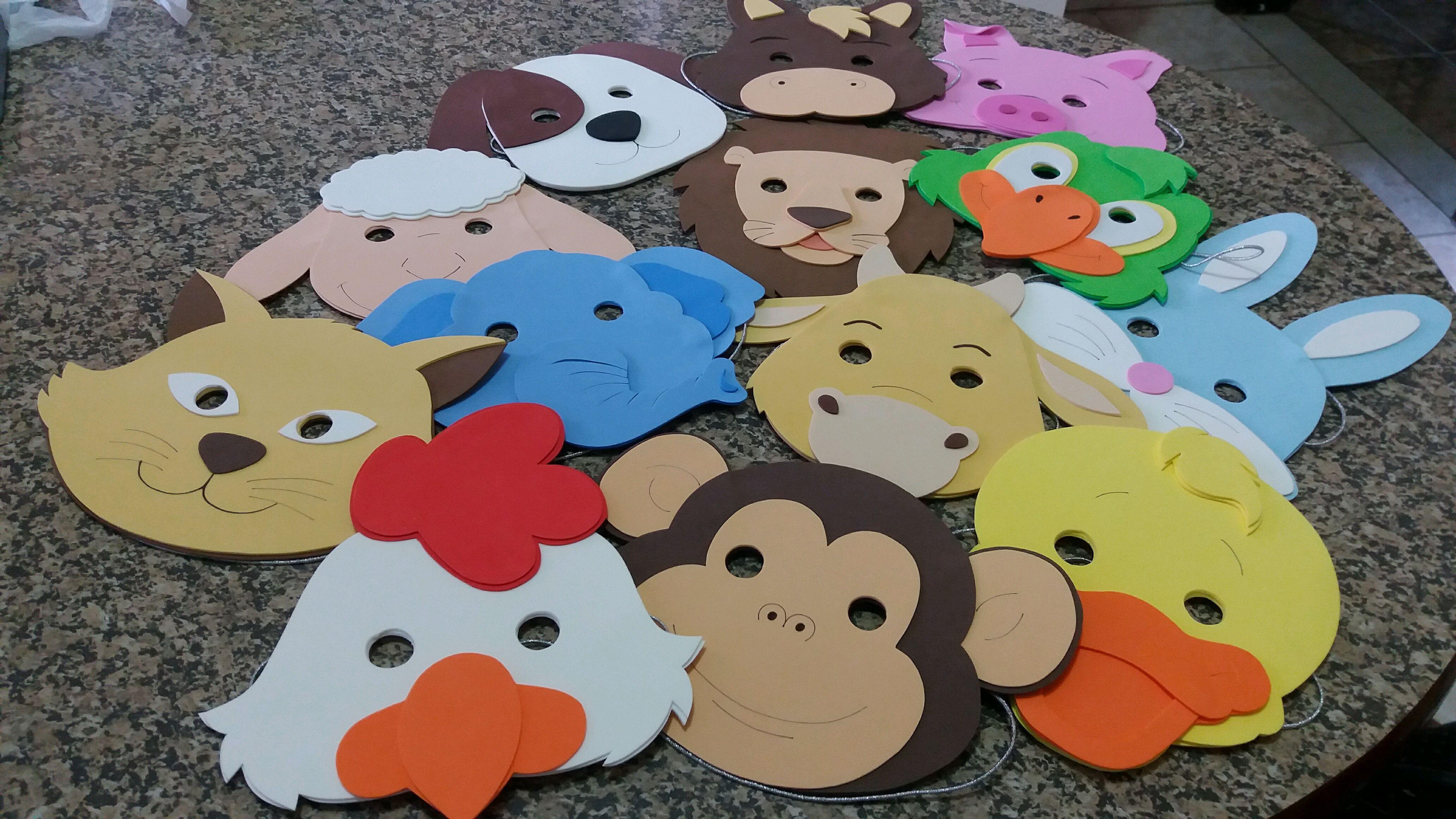 Mascaras Animais Para Crianças No Elo7 Criativa Eva C457bc