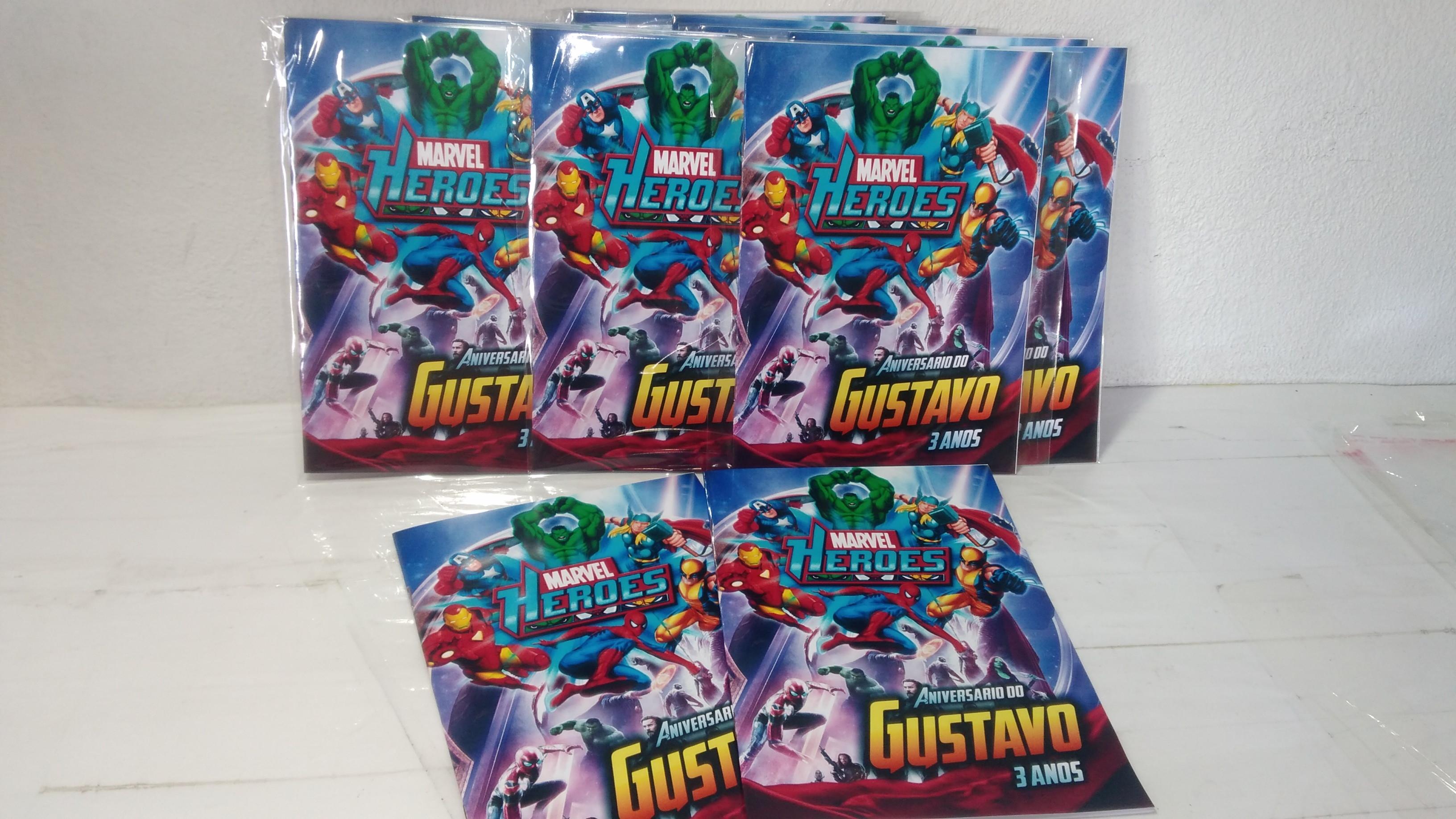 Revisitinha De Colorir Herois Marvel No Elo7 Doce Lembrancinha