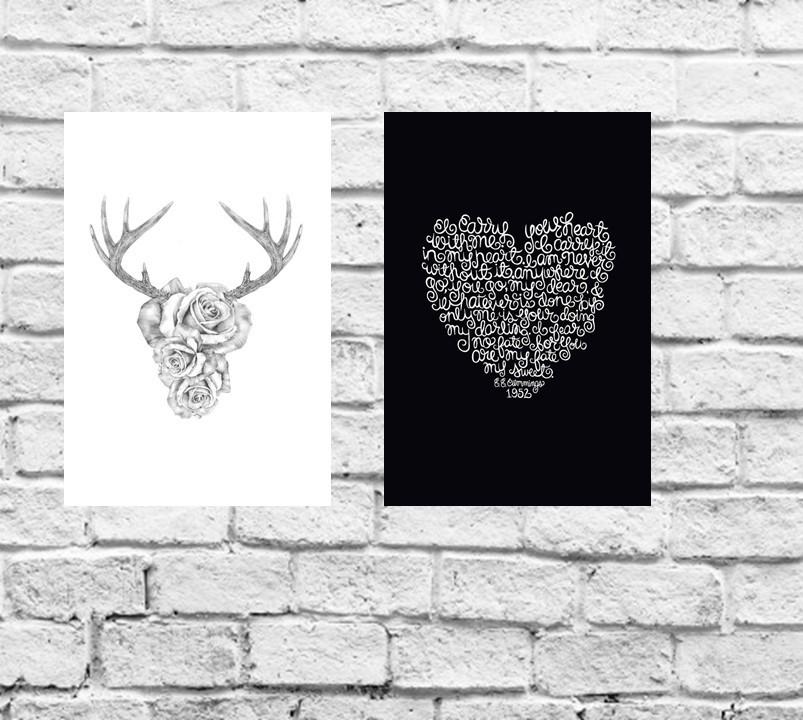 bc8a5ddba Placa Decorativa Animais 2 Lobo Branco e Preto 30x20cm