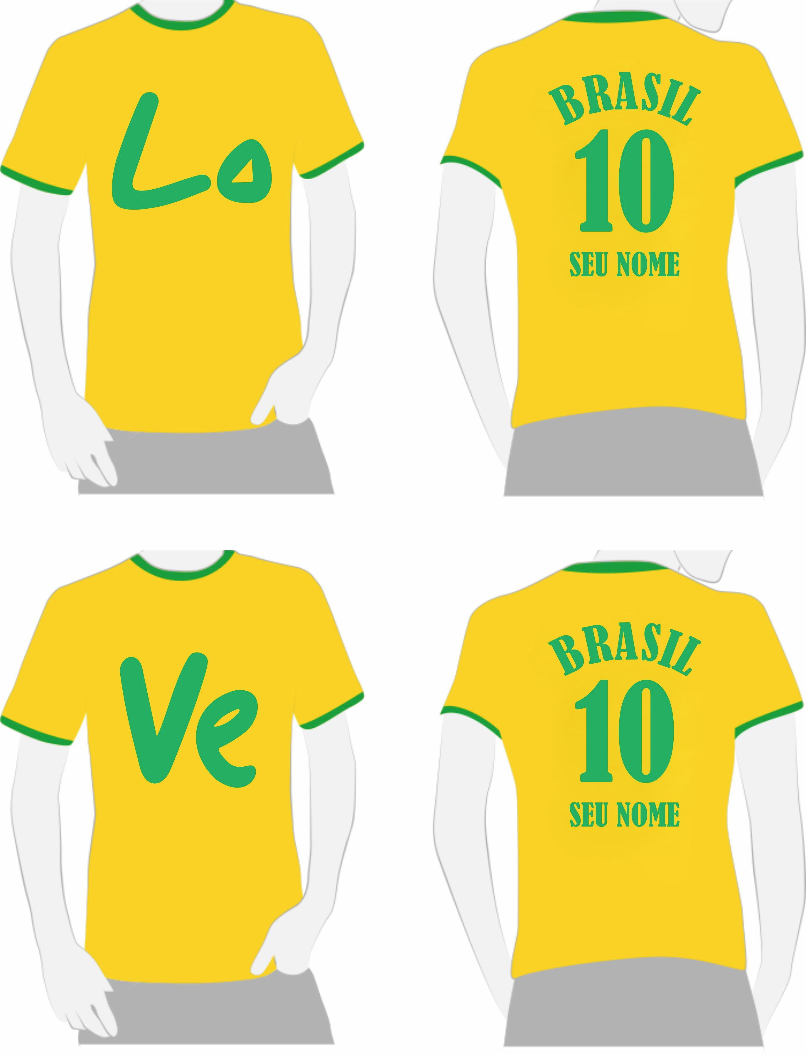 25e2df2b9f6e3 Camisetas Love Casal Namorados Copa do Mundo | Elo7