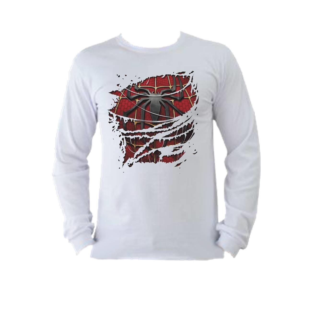 Camiseta manga longa homem aranha 01 no Elo7  079f0b51833de