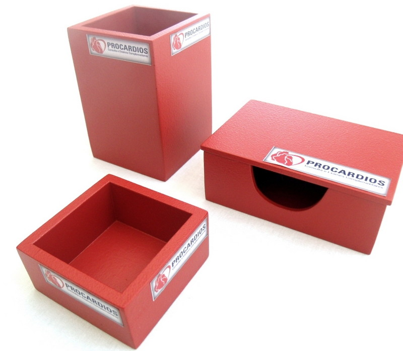 Organizador de mesa com 3 peças personalizado no Elo7  77d7af2d5d198