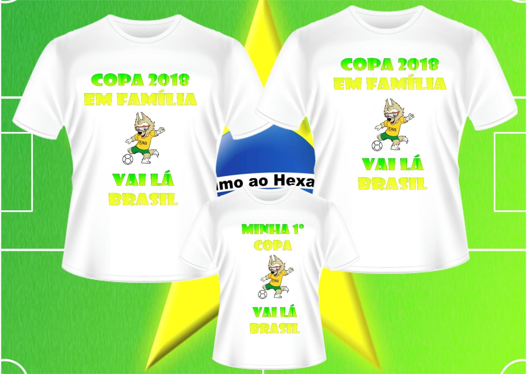 598d4ff8e3 Kit Camisetas de Aniversario Copa do Mundo Selecao Brasil
