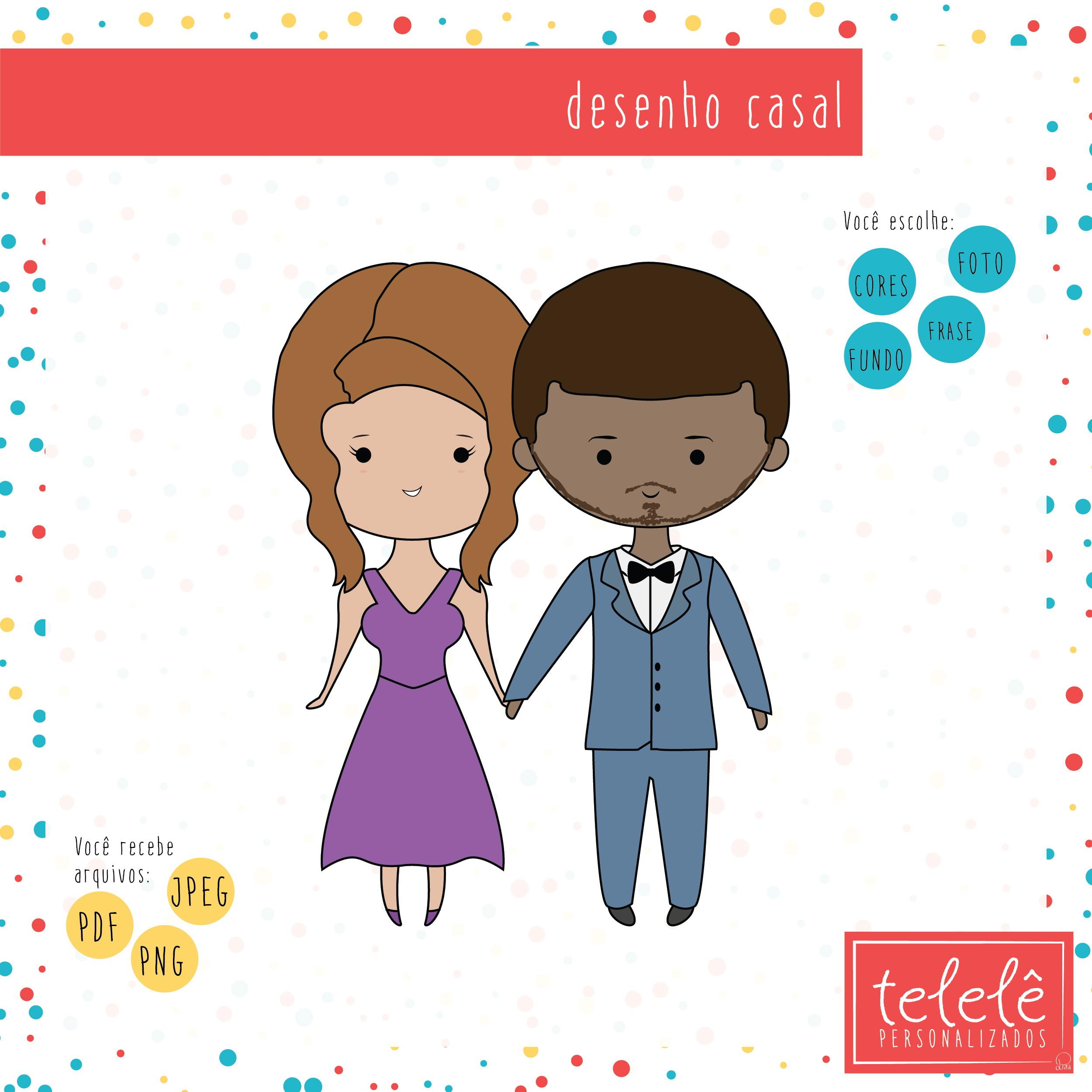 Desenho Digital Casal No Elo7 Telele Mimos C4f90a