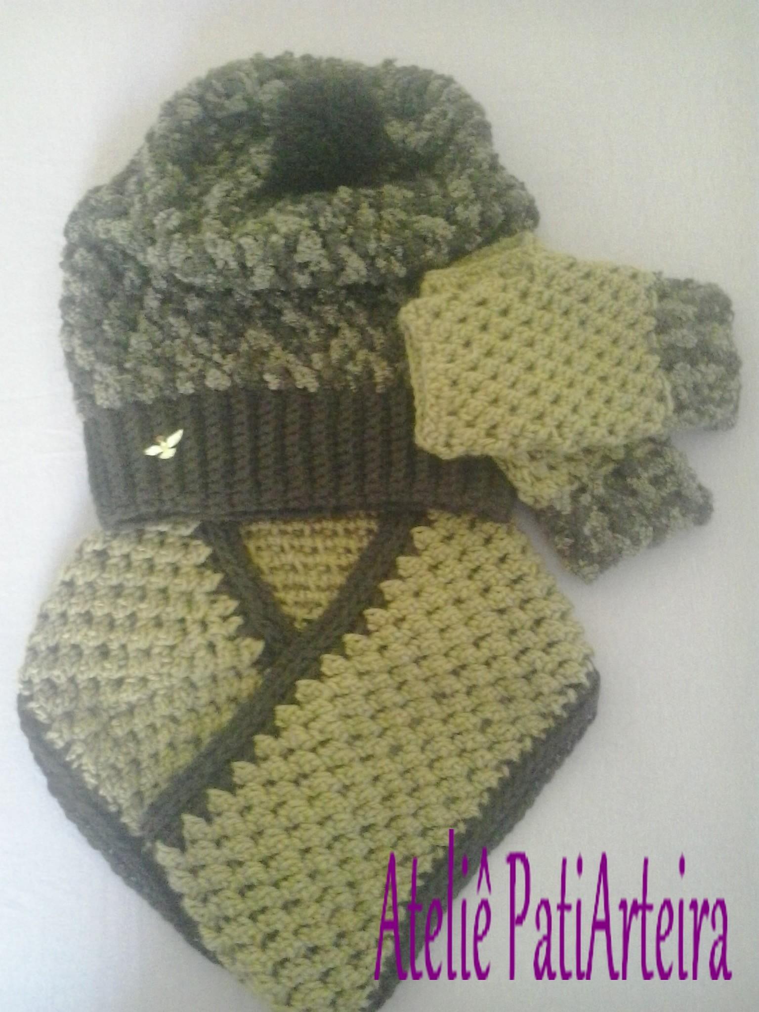 Kit de Inverno Gorro Touca Caidinho Adulto  8cf20b2e354