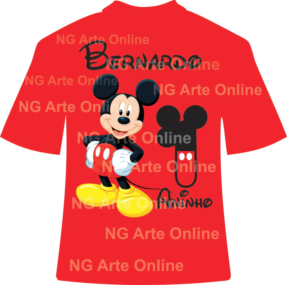 Arte Digital Pronta para Camisetas Mickey - Crie Aqui no Elo7  c0313eb6d761b