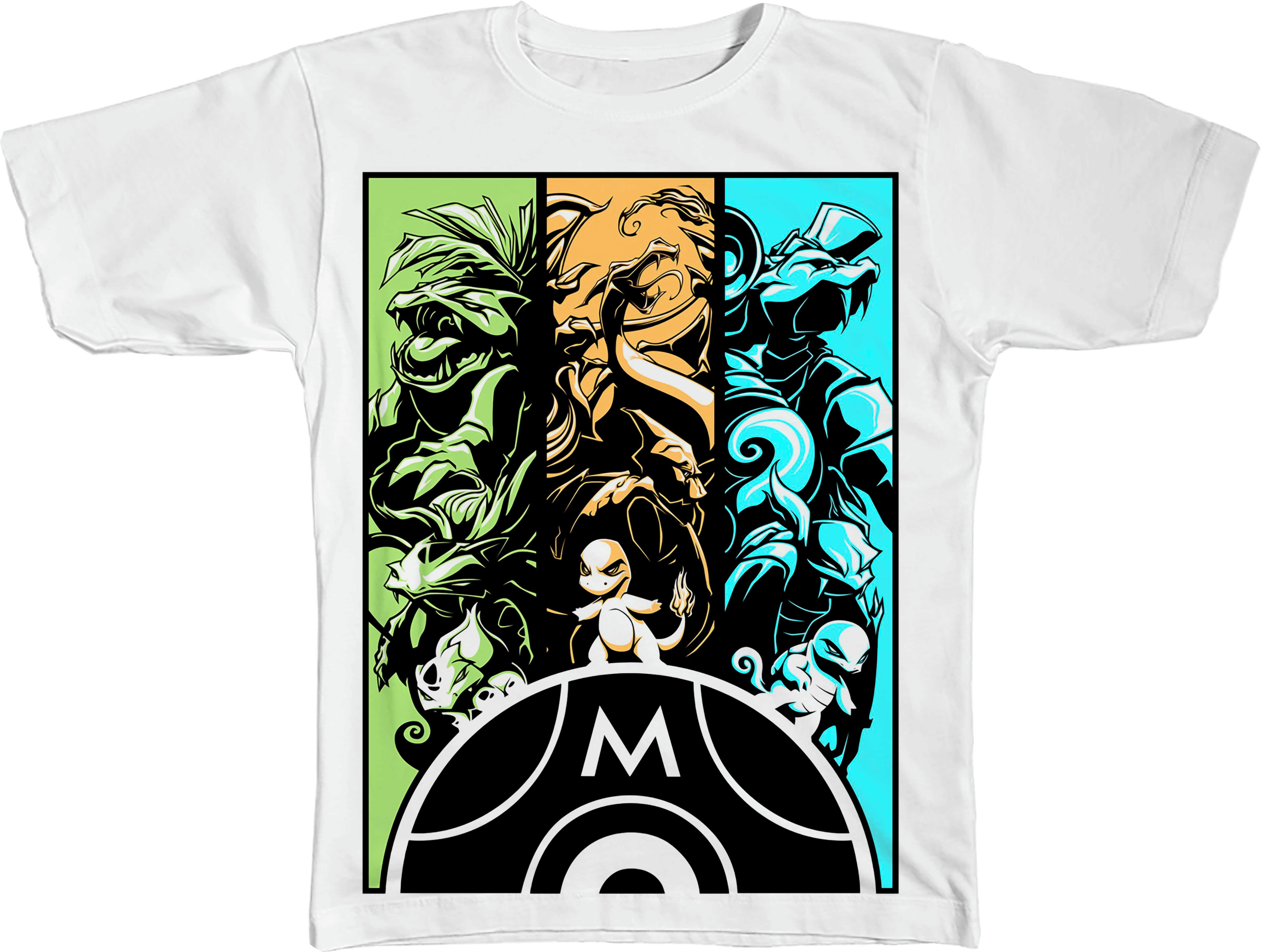5cfb71b48 Camiseta Mew e Mega Mewtwo Y Pokemon