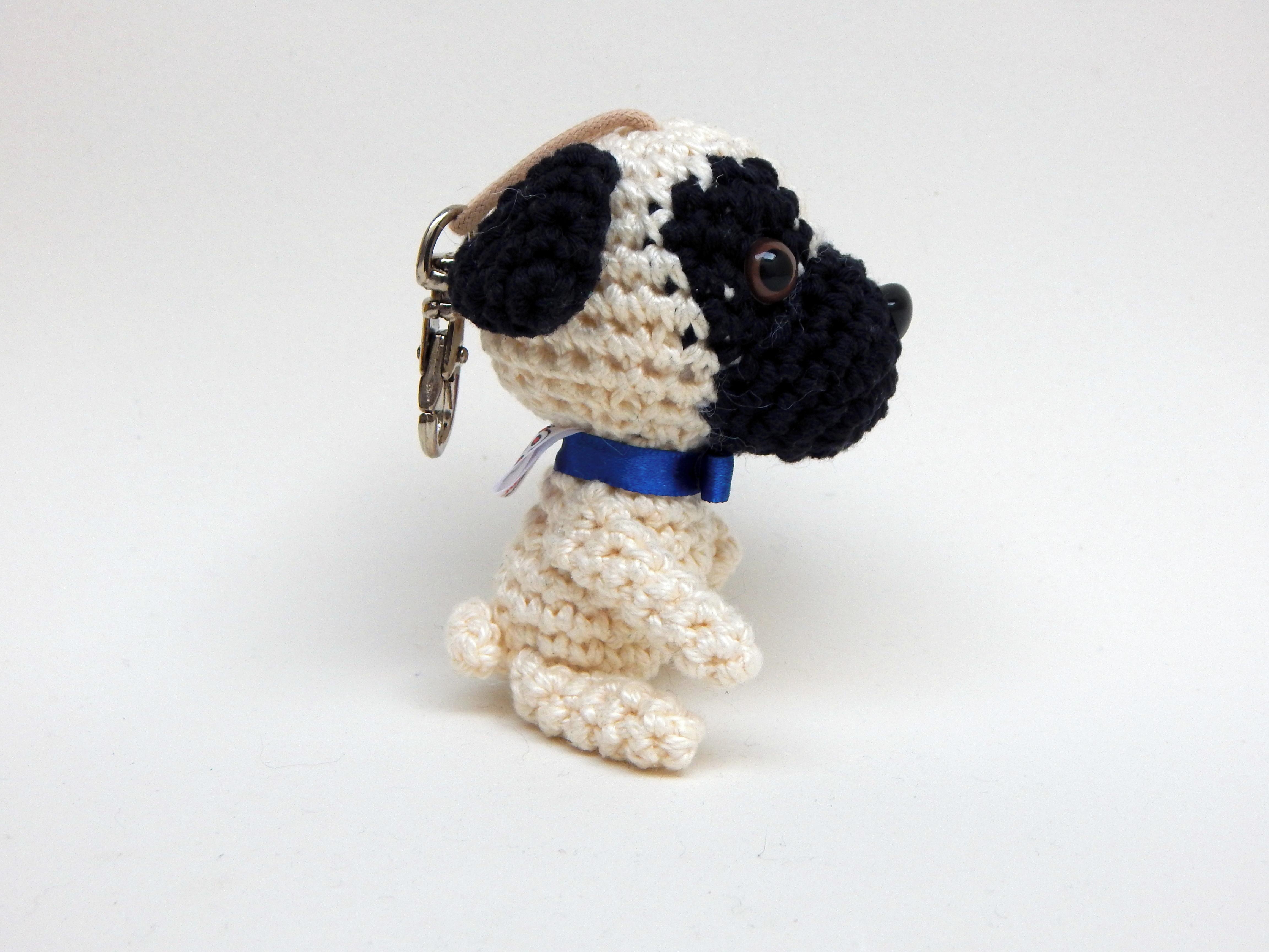Chaveiro De Pug Em Crochê - Amigurumi - R$ 40,00 em Mercado Livre | 3456x4608