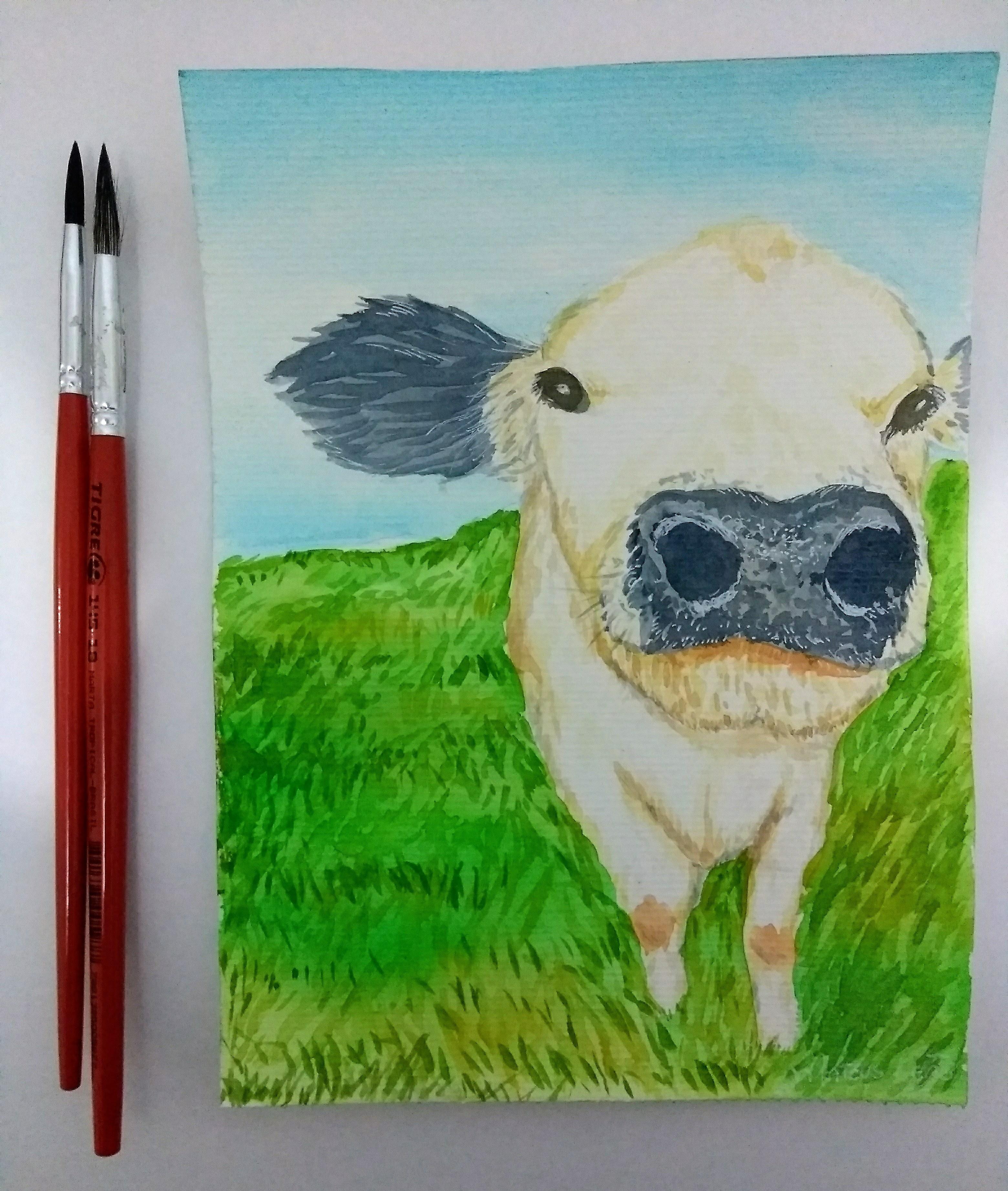 Pintura Em Aquarela De Animal E Bichos A4 Pintura Fisica No