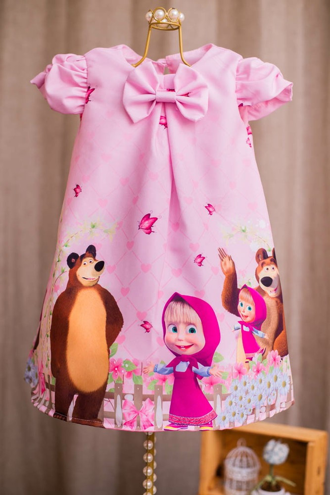 Vestido Masha E O Urso Festa Rosa Elo7