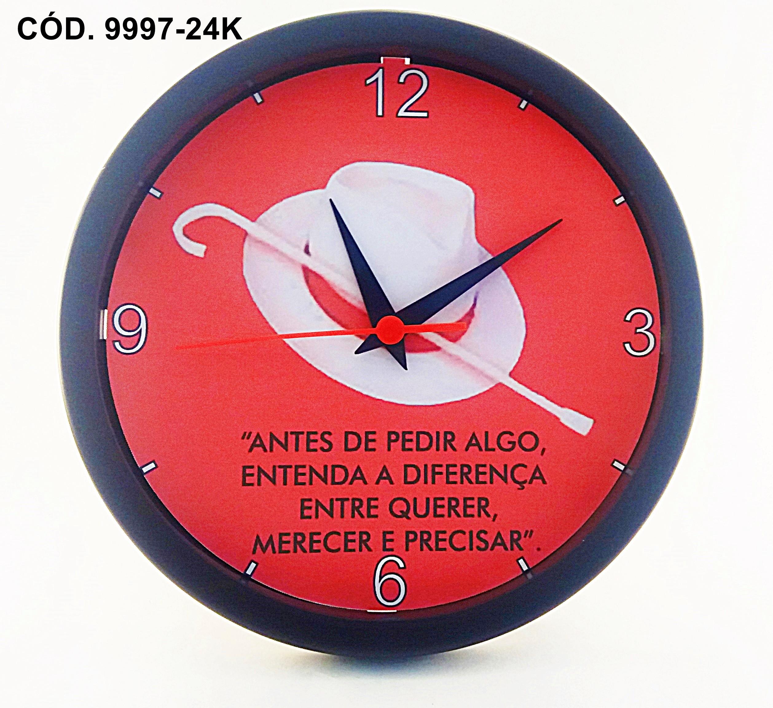 e9d3d006249 Relógio De Parede Personalizado Exu Guardião 1-classico 24cm no Elo7 ...