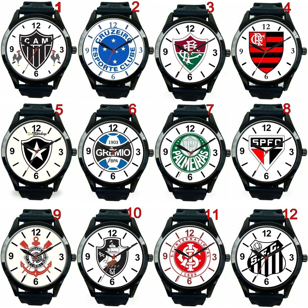 d28ed6816b4 Relogio Pulso Esportivo Personalizado Times Futebol Barato