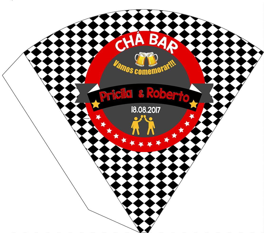 062c1e2e72b2e Cone - Boteco Logo vermelho e creme no Elo7