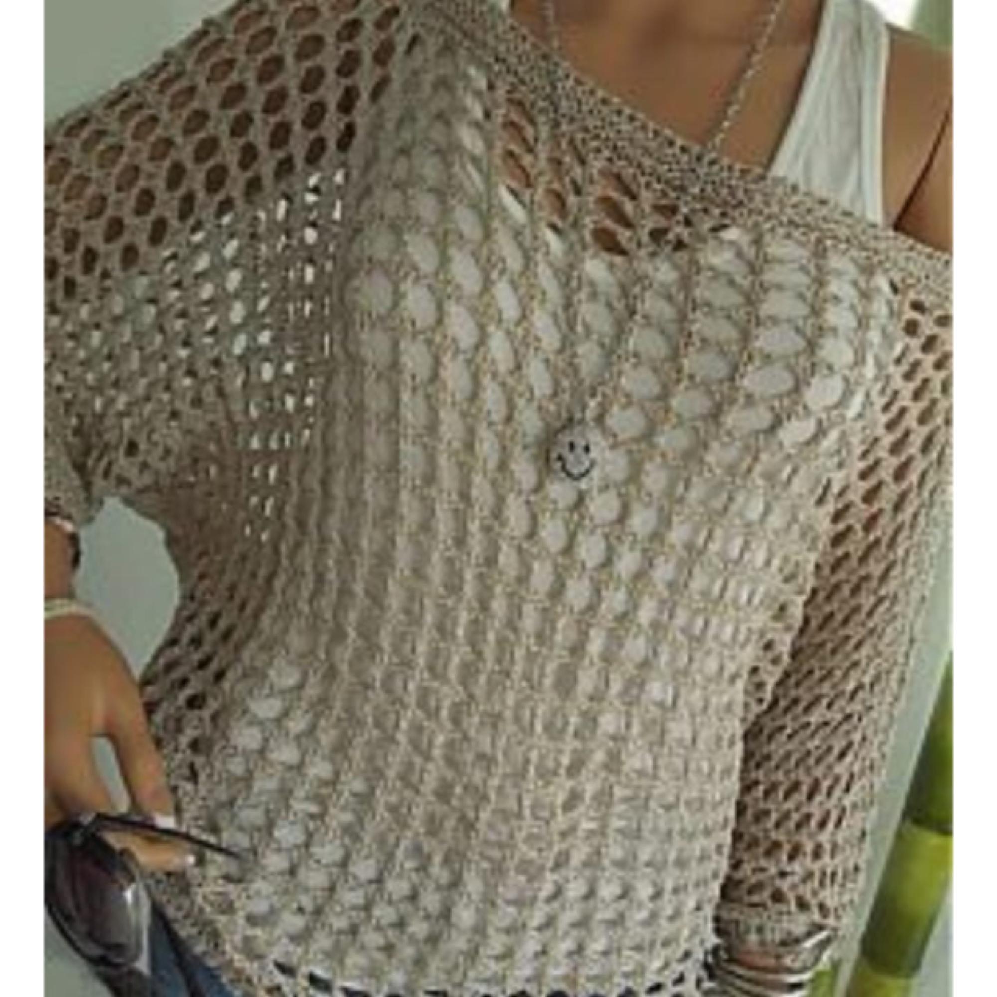 c7d2ea730f Blusa Linda de La Trico Croche Decote Canoa