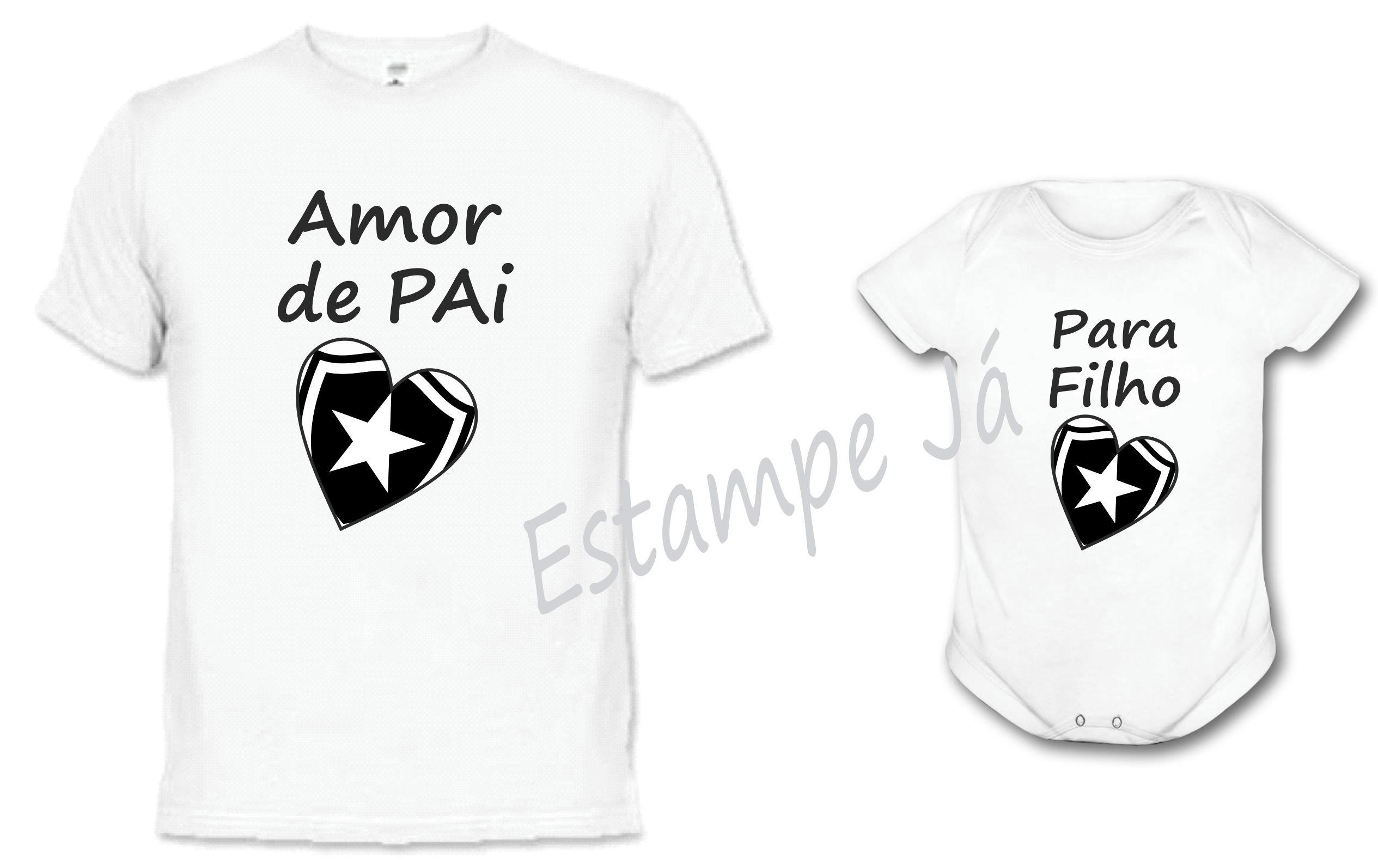 Camiseta Tal Pai Filha Fut Botafogo  09405f6c07b2f
