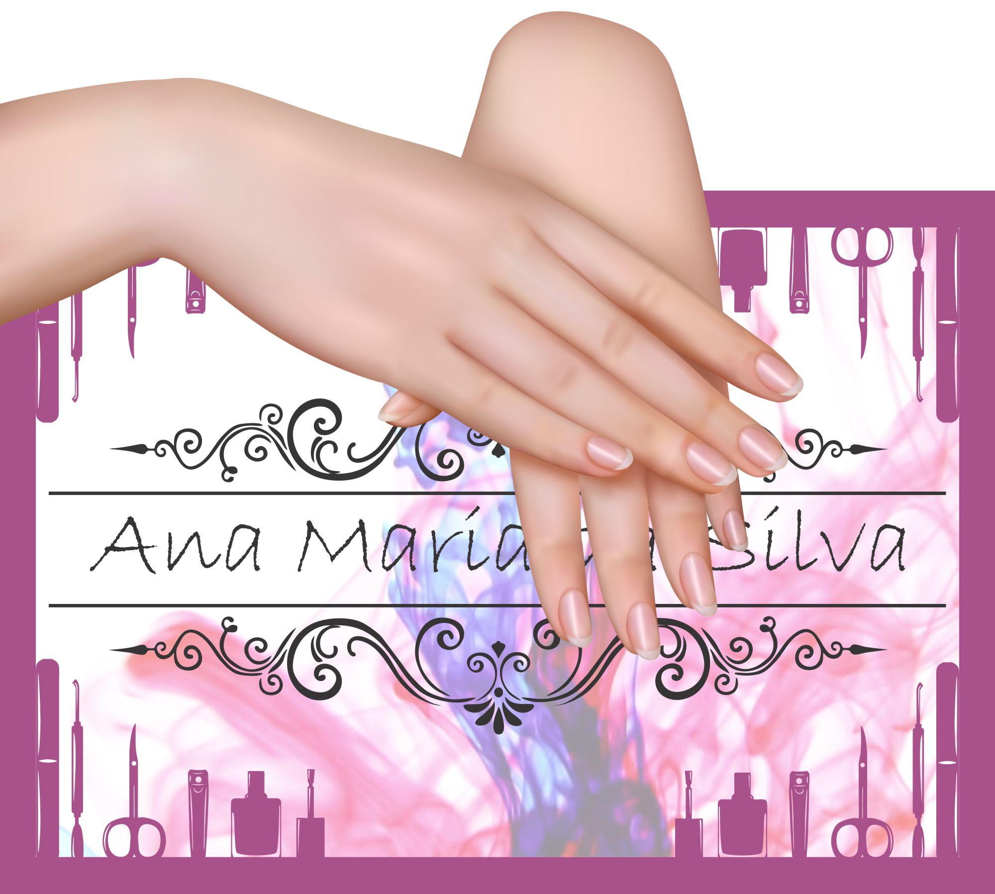 Placa Plaquinha Fundo 2 Foto Manicure Personalizada no Elo7