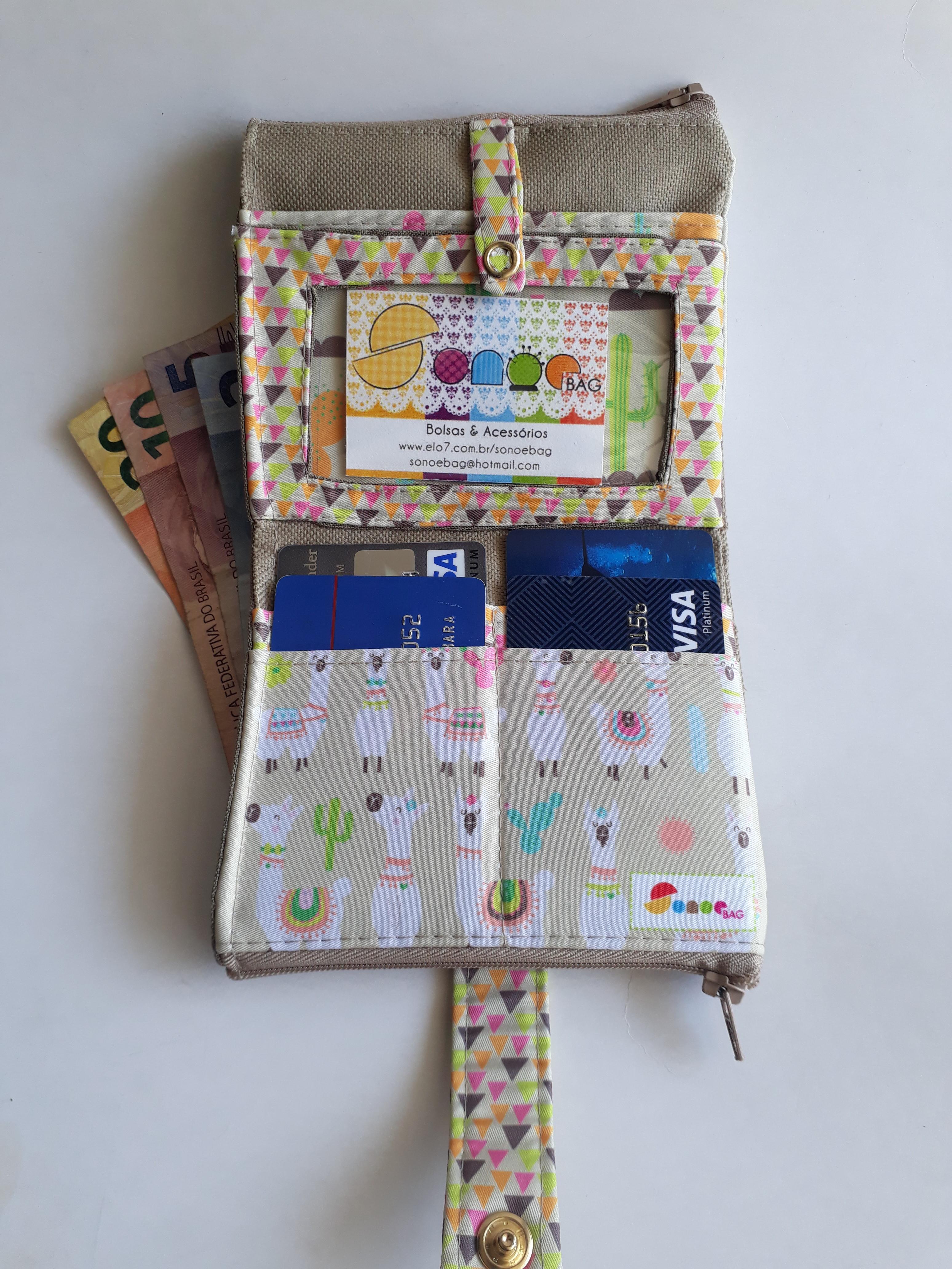 5c3981aaa Mini-carteira - Lhama no Elo7