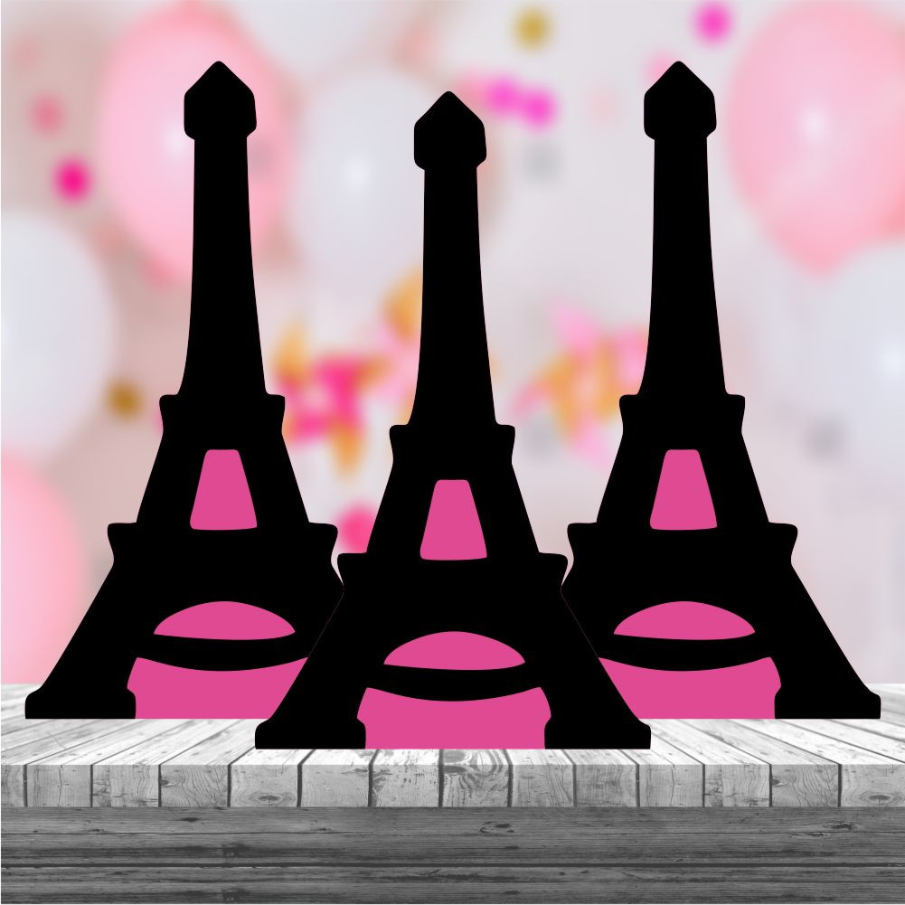 Kit 3 Centro Mesa Mdf Paris Torre Eiffel No Elo7