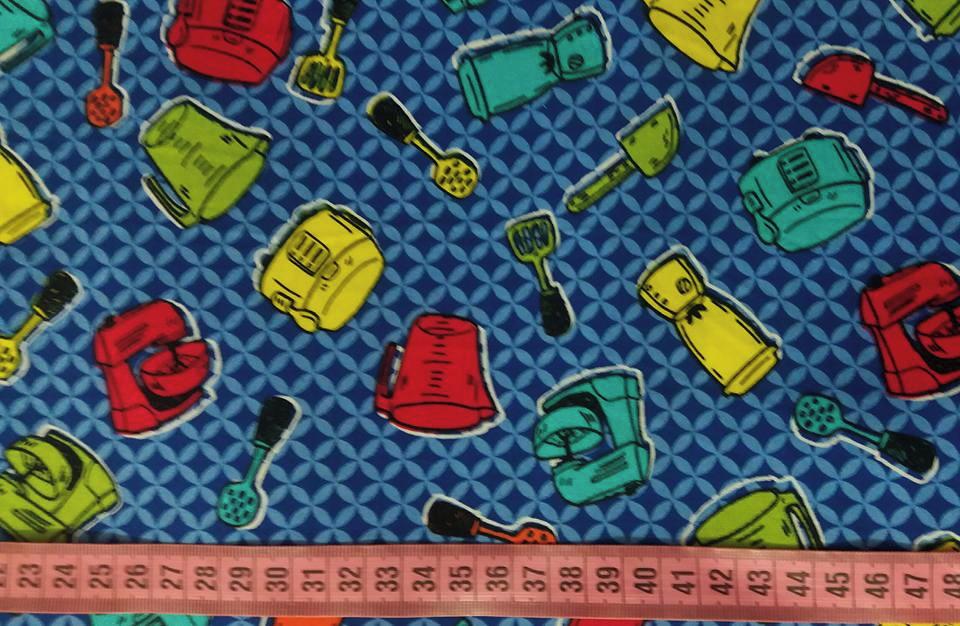 Touca Unissex Itens de Cozinha Azul no Elo7  e36964379a7