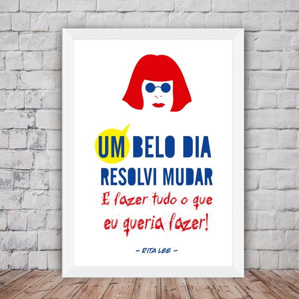Poster Rita Lee Rainha Do Rock Elo7