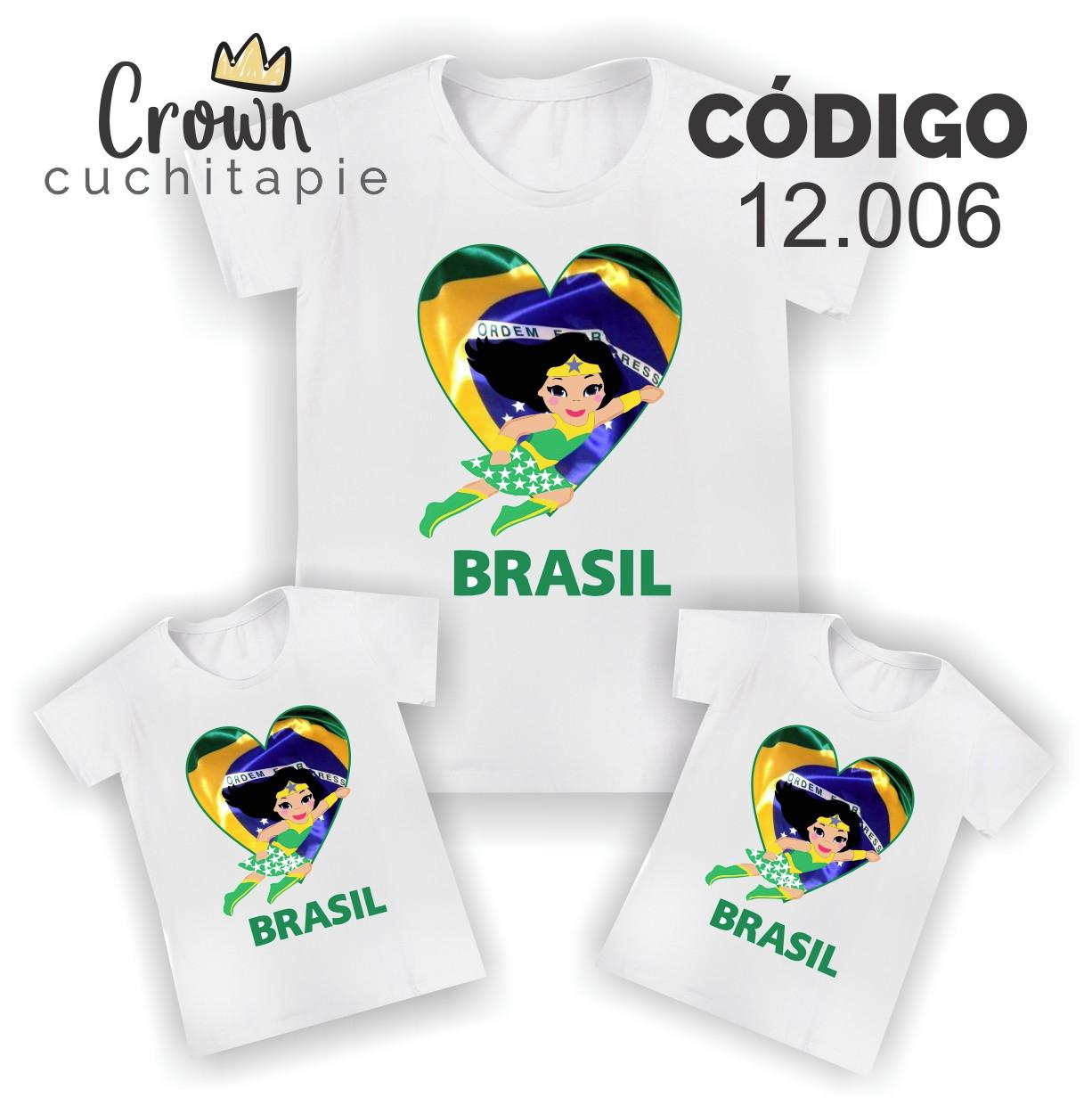 fc17cc8178 Camiseta Personalizada Brasil Copa Estampa Cheia T Shirt