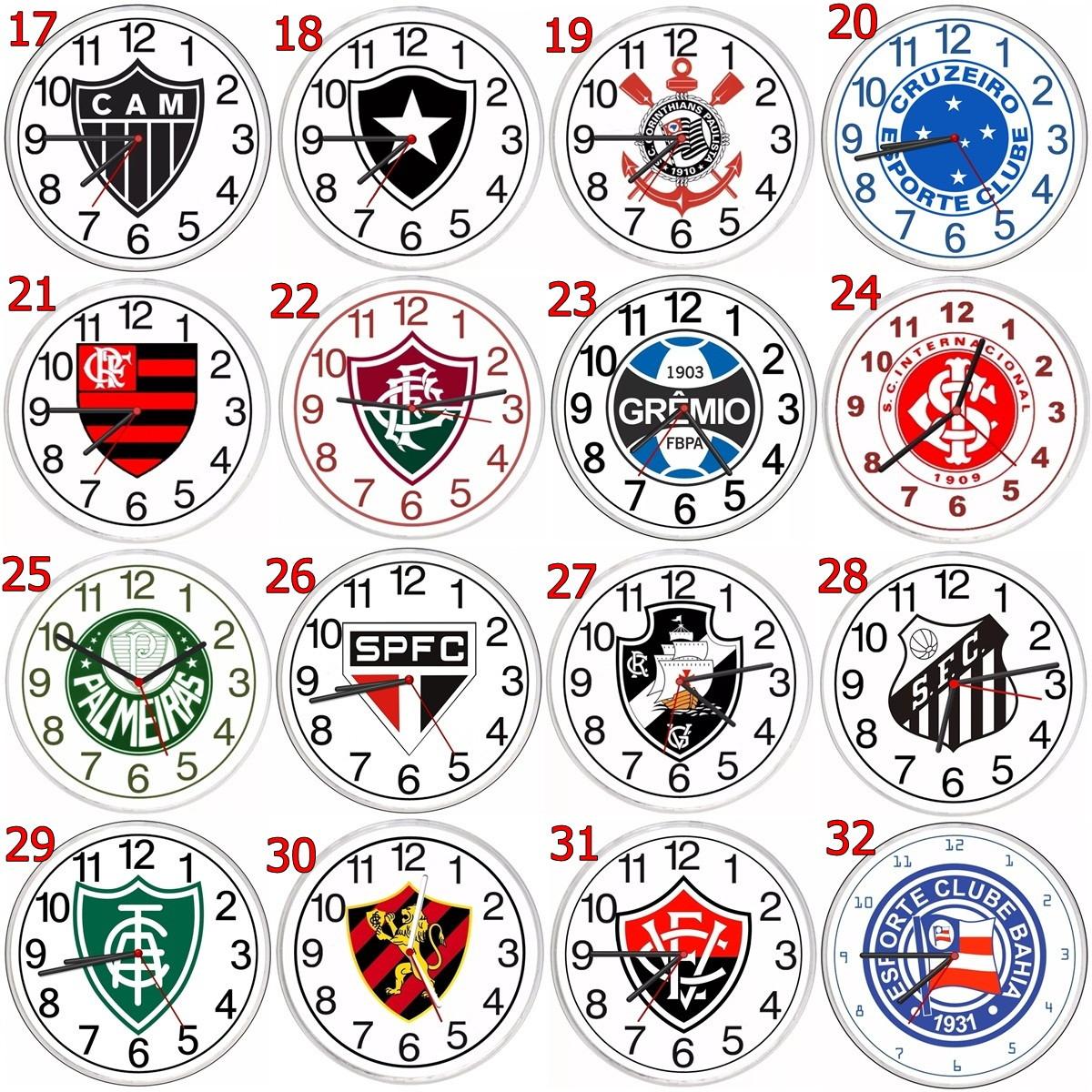 89638b350be Relogio Parede Personalizado com Escudo do Seu Time Futebol